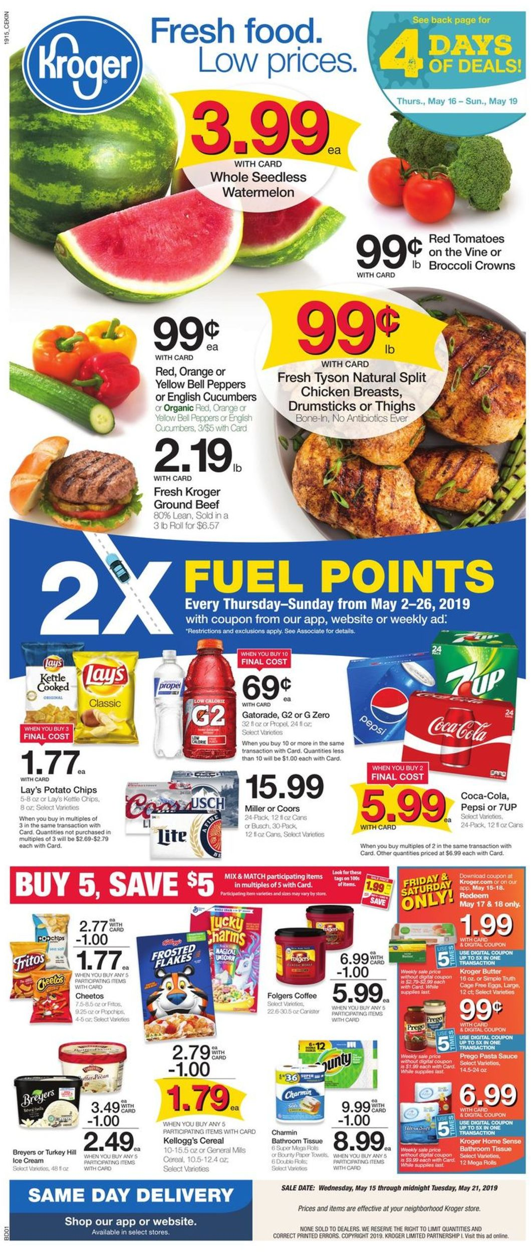 Kroger Current weekly ad 05/15 - 05/21/2019 - frequent-ads com