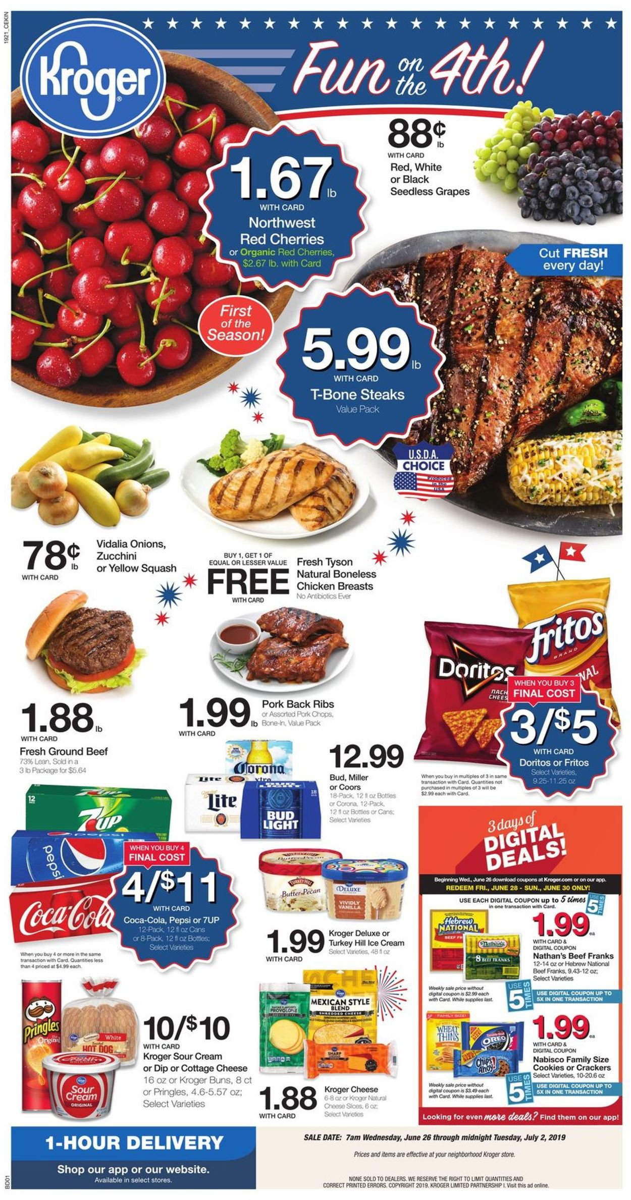 Kroger Christmas Hours 2019.Kroger Current Weekly Ad 06 26 07 02 2019 Frequent Ads Com