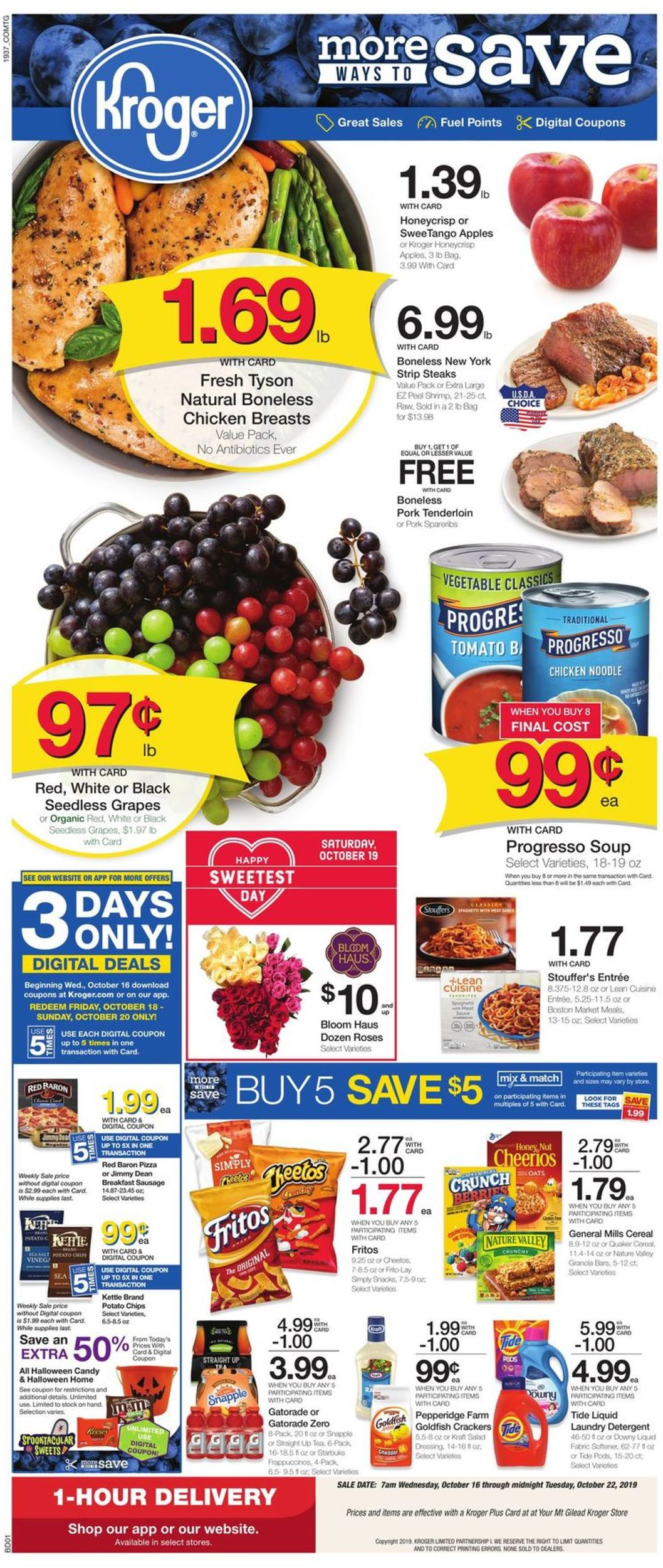 Kroger Christmas Hours 2019.Kroger Current Weekly Ad 10 16 10 22 2019 Frequent Ads Com