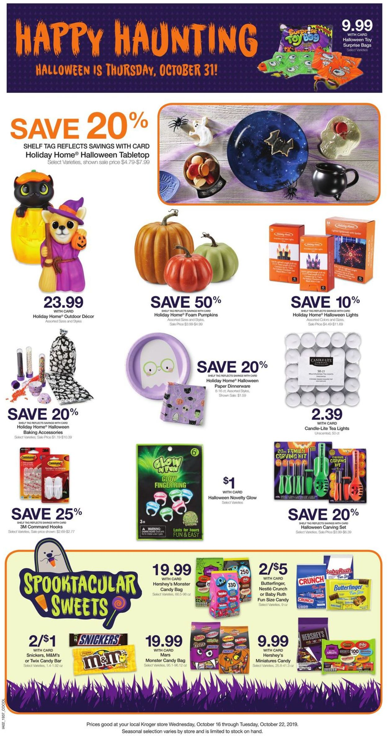 Kroger Current Weekly Ad 10 16 10 22 2019 8 Frequent Ads Com