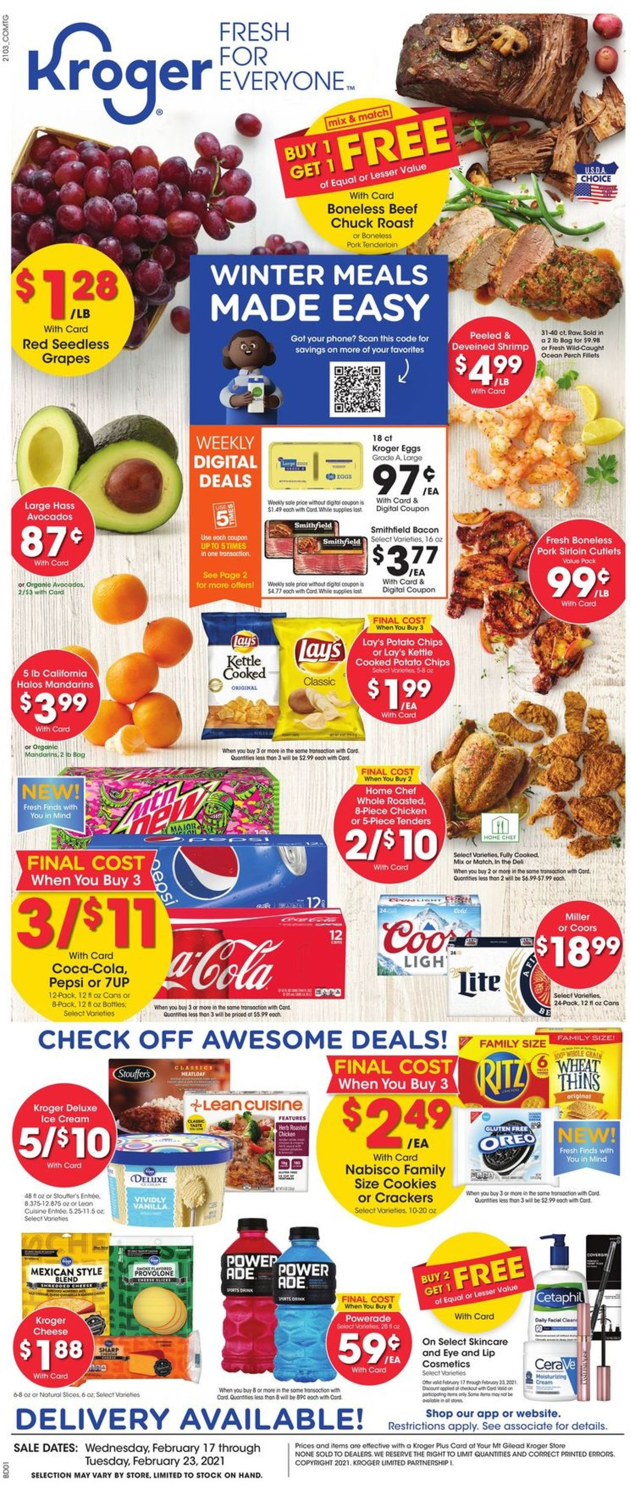 Catalogue Kroger from 02/17/2021