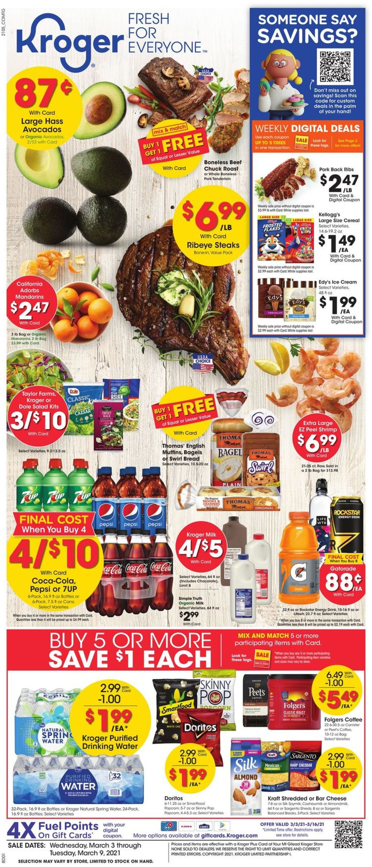 Catalogue Kroger from 03/03/2021
