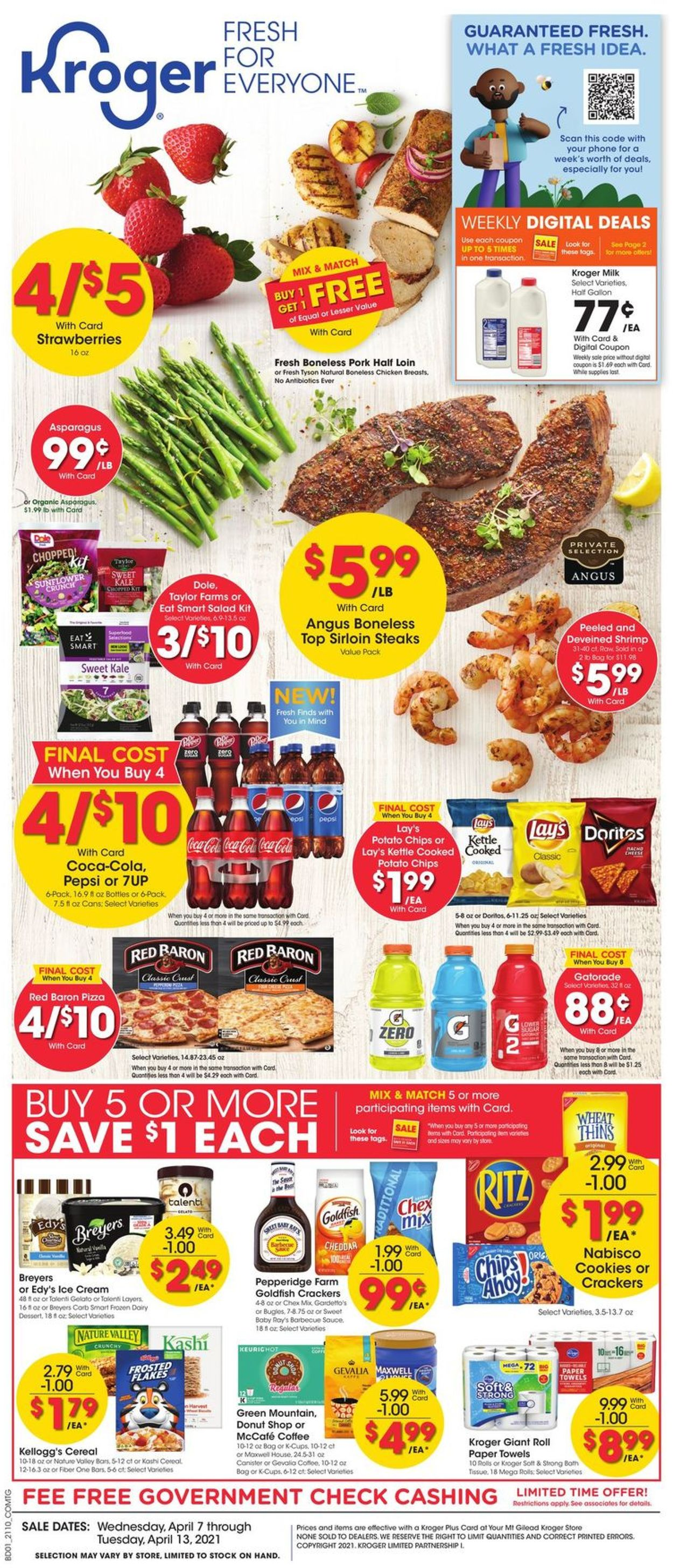 Catalogue Kroger from 04/07/2021