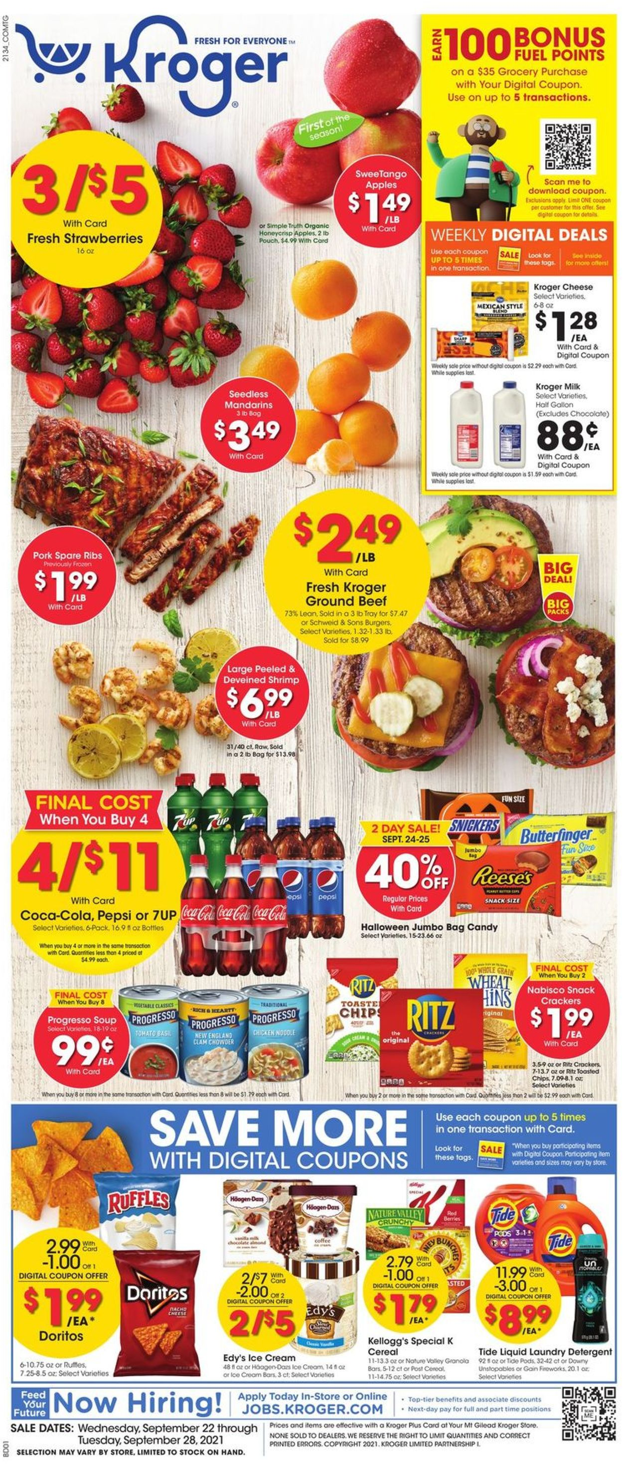 Catalogue Kroger from 09/22/2021