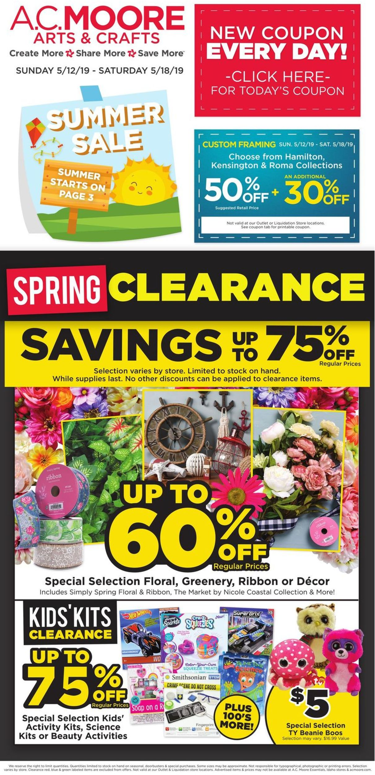 A C  Moore Current weekly ad 05/12 - 05/18/2019 - frequent