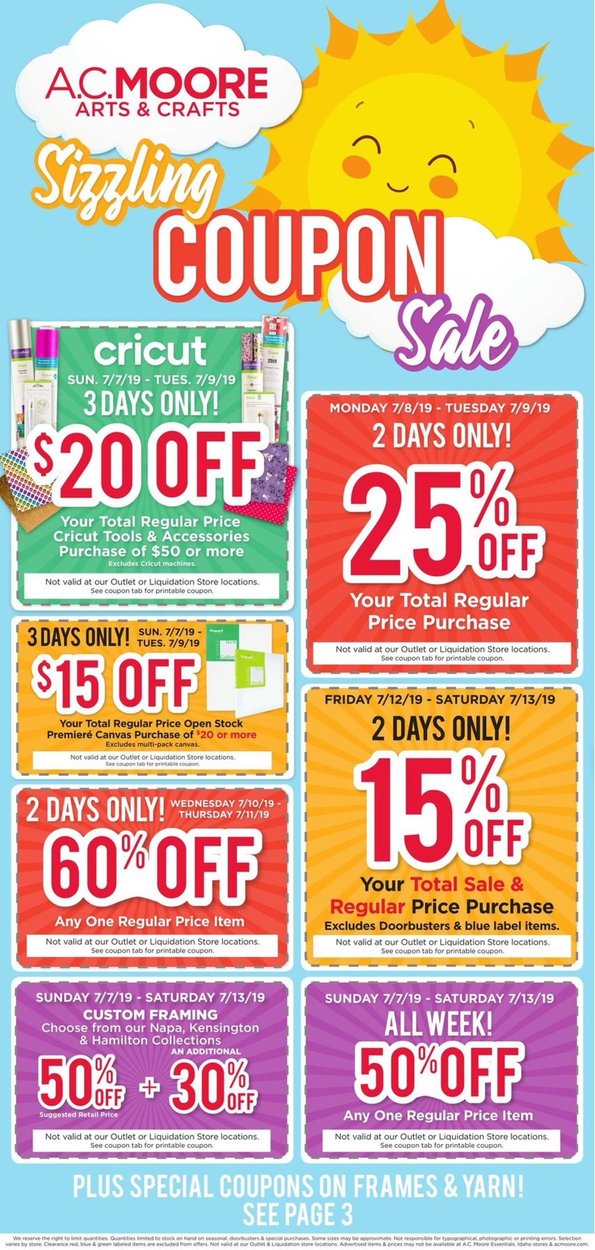 photograph relating to Ac Moore Printable Coupon named A.C. Moore Recent weekly advert 07/07 - 07/13/2019 - constant
