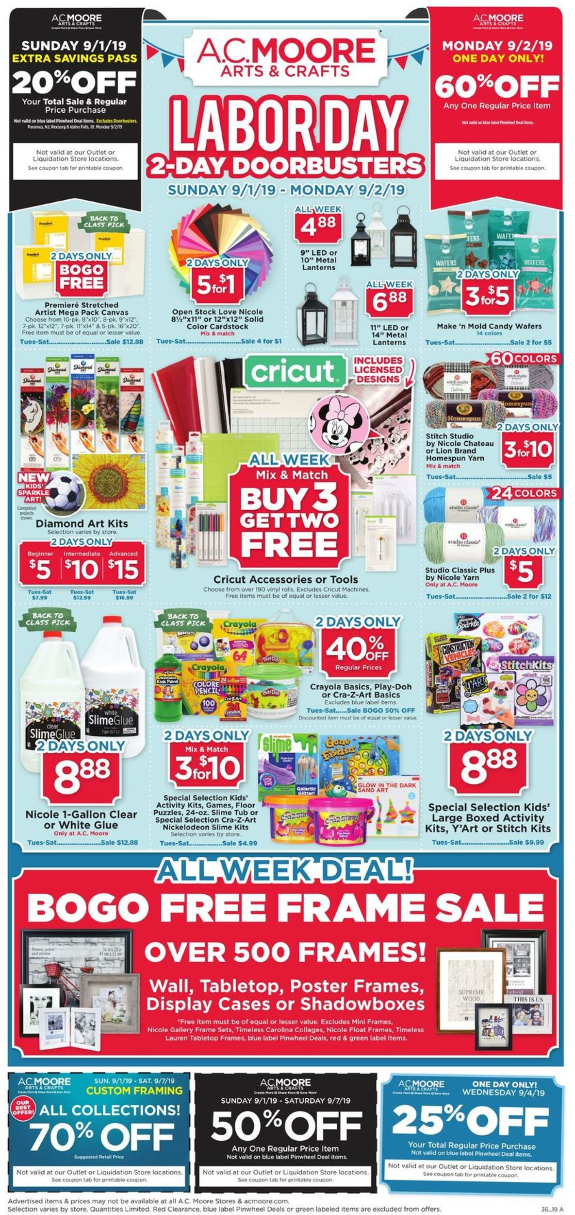 picture regarding Ac Moore Printable Coupon named A.C. Moore Present weekly advertisement 09/01 - 09/07/2019 - continuous