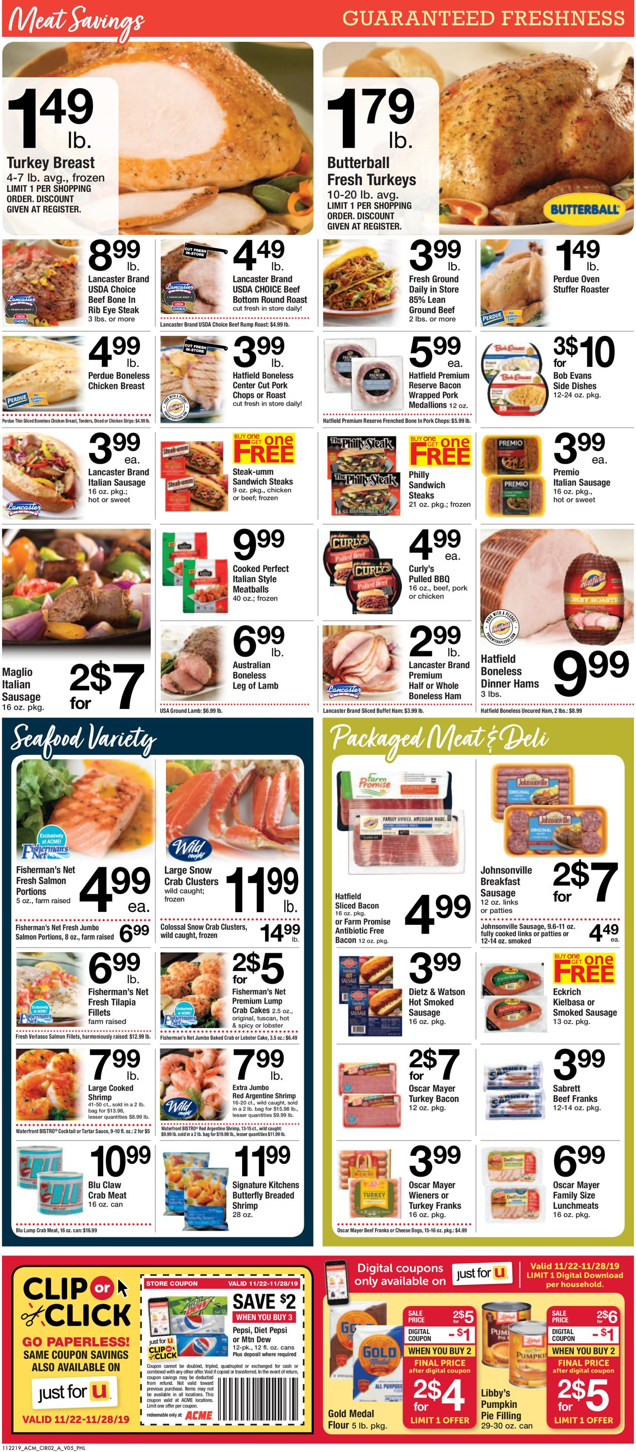 Acme Thanksgiving Ad 2019 Current Weekly Ad 11 22 11