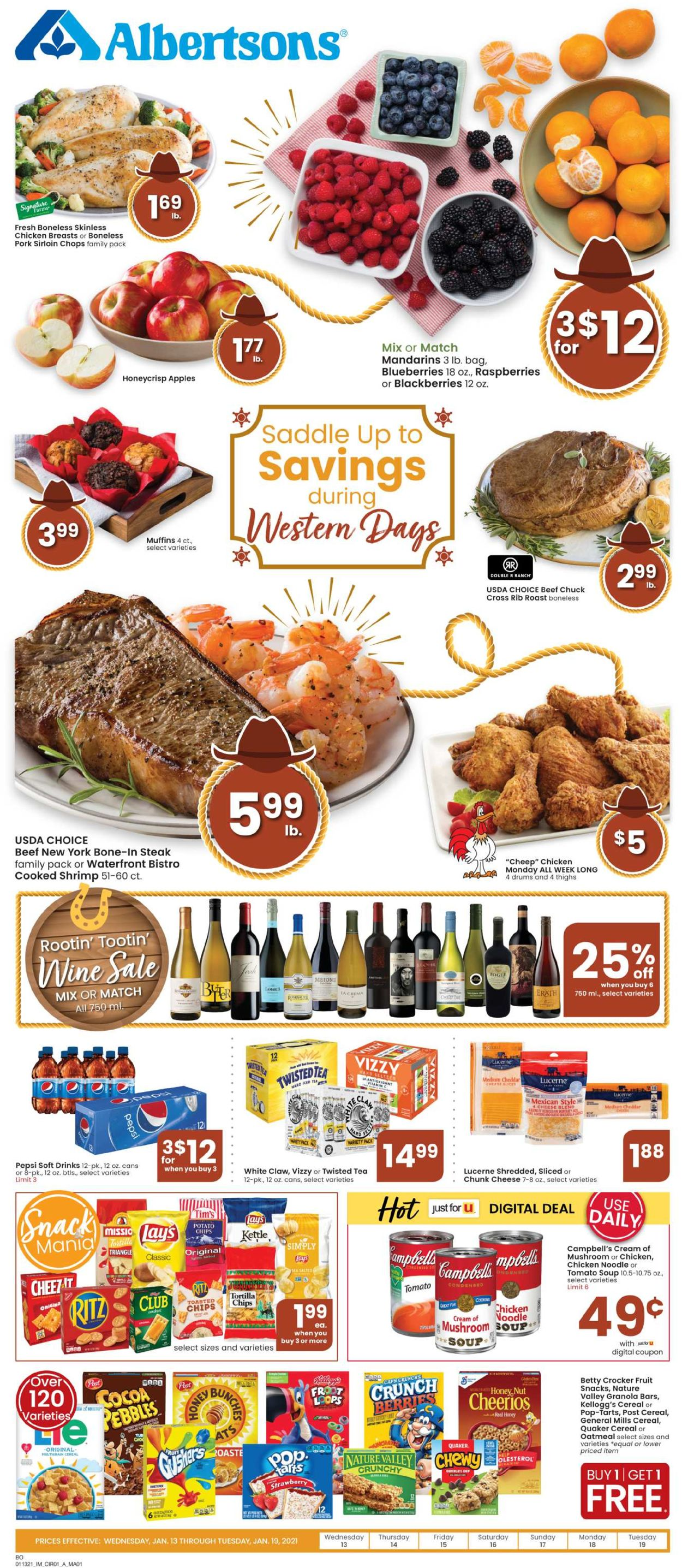 Catalogue Albertsons from 01/13/2021