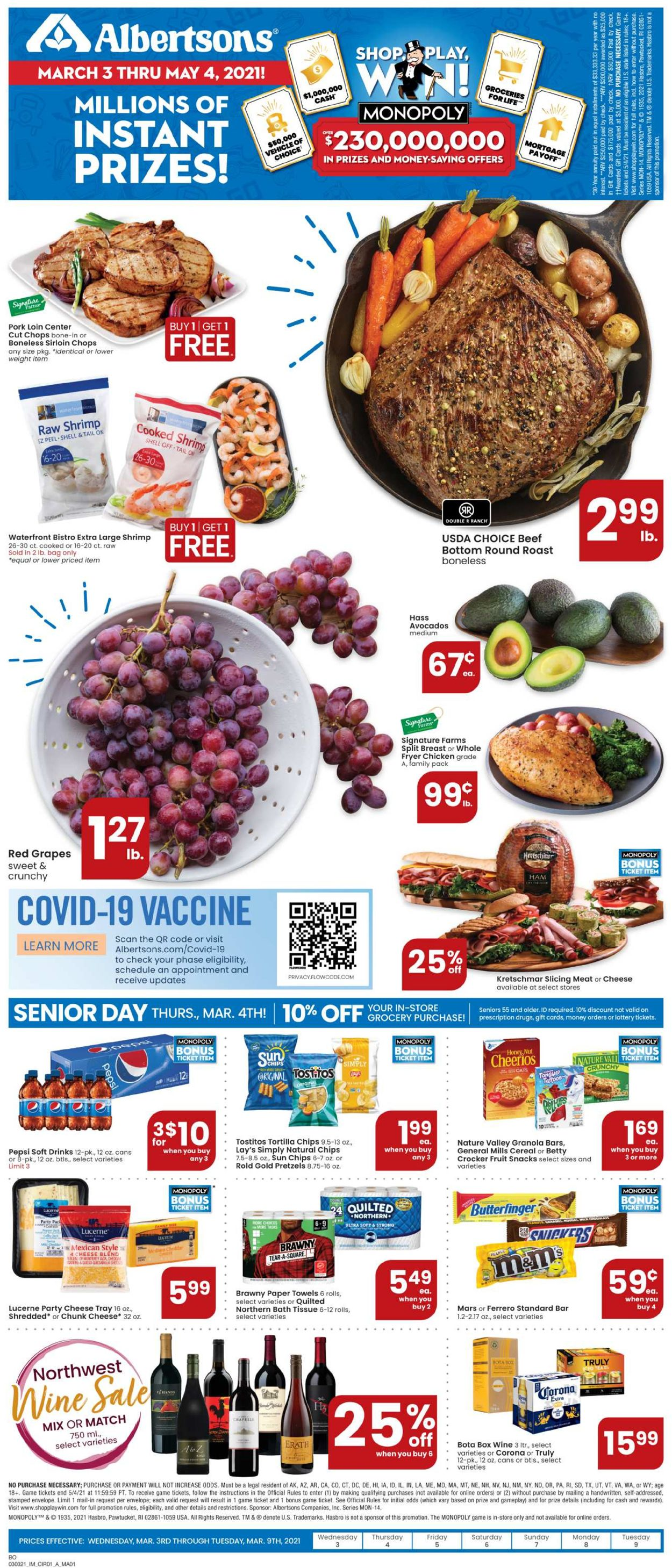 Catalogue Albertsons from 03/03/2021