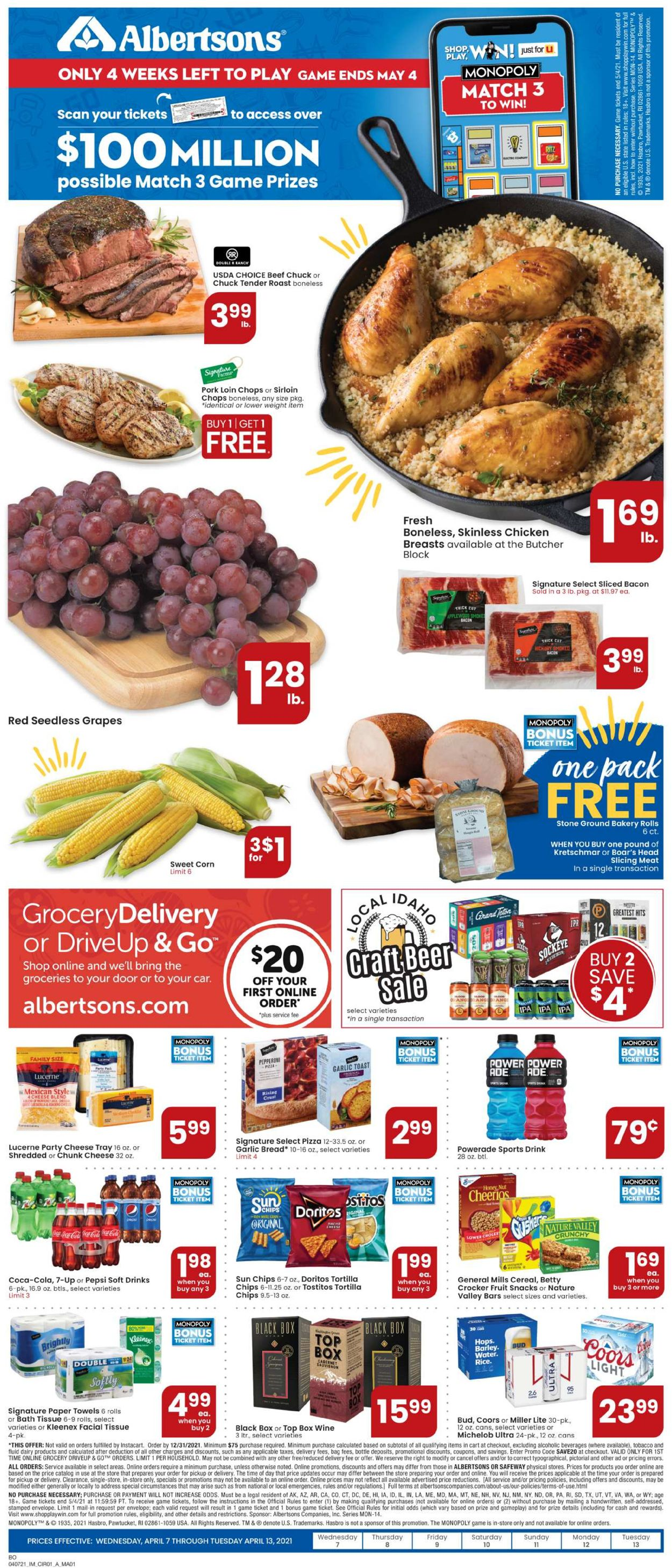 Catalogue Albertsons from 04/07/2021