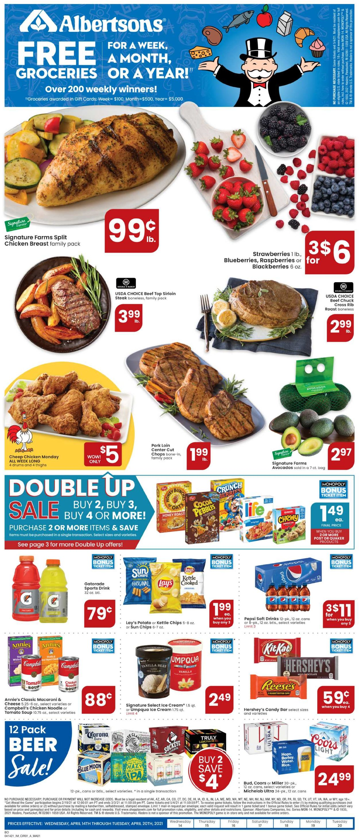 Catalogue Albertsons from 04/14/2021