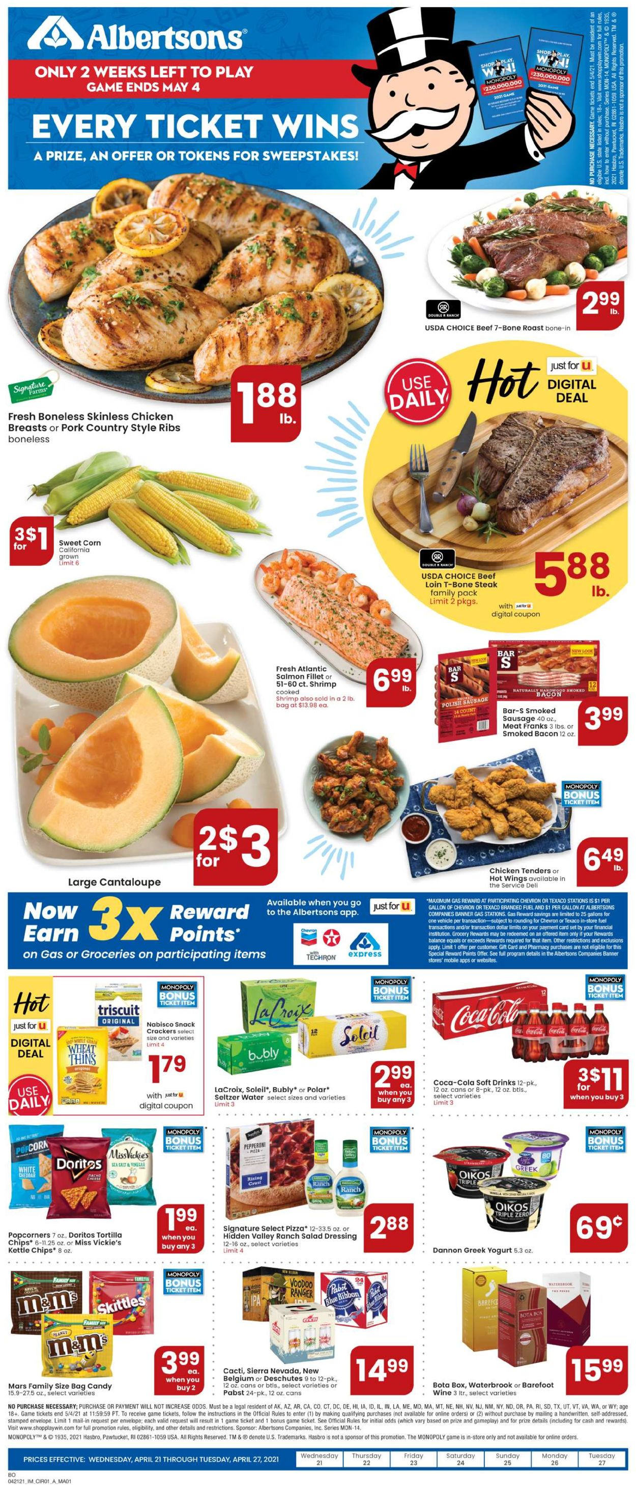 Catalogue Albertsons from 04/21/2021