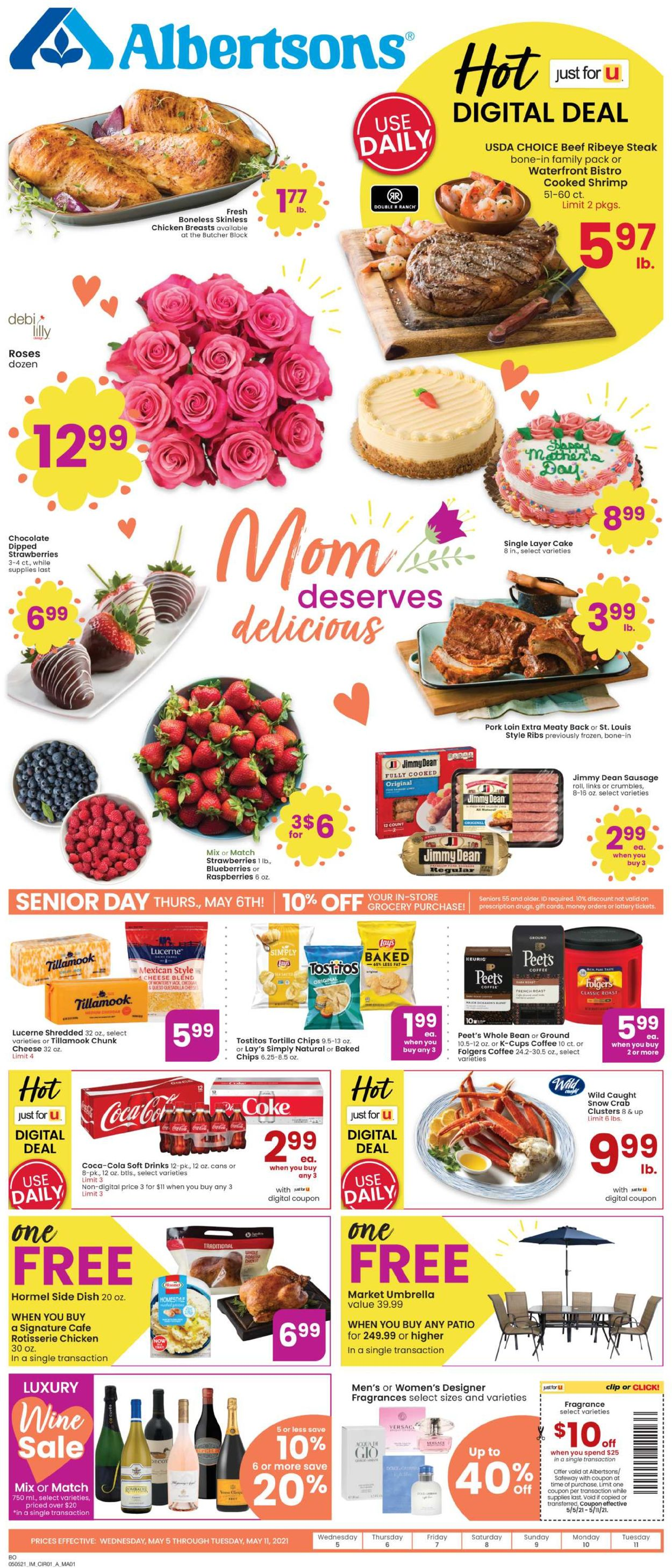 Catalogue Albertsons from 05/05/2021