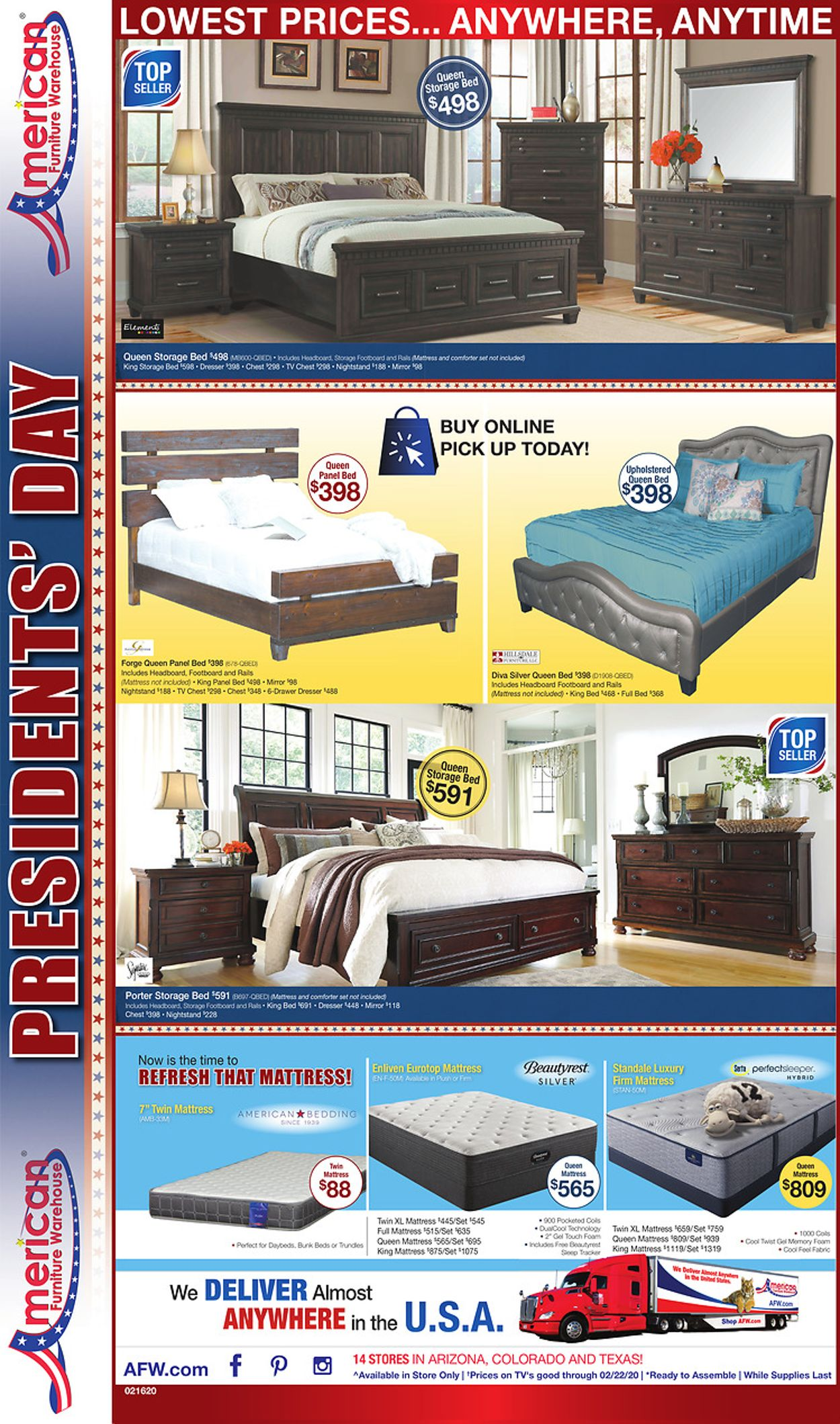 American Furniture Warehouse Current Weekly Ad 02 17 03 31 2020 4 Frequent Ads Com