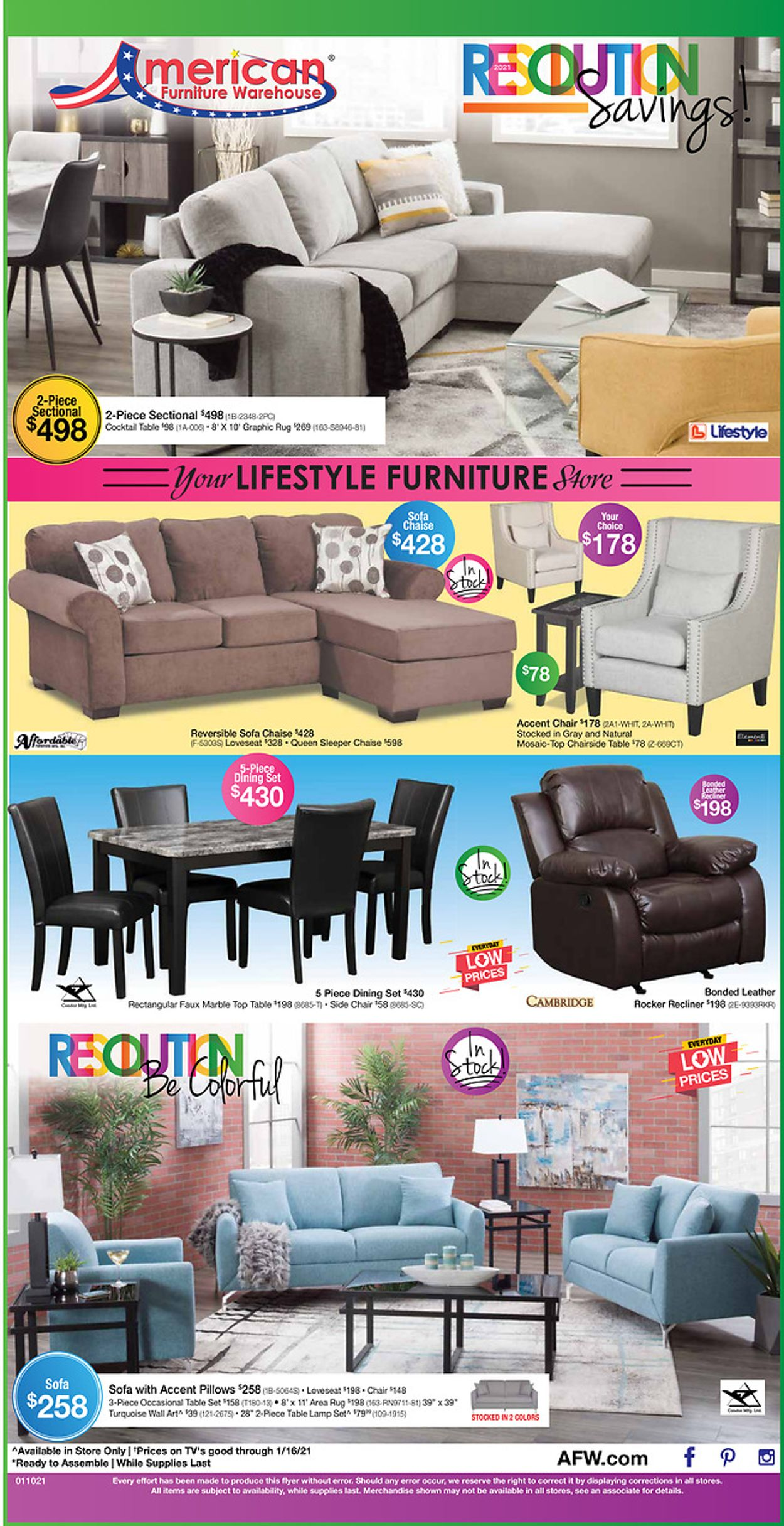 American Furniture Warehouse Resolution Savings Event 2021 Current Weekly Ad 01 05 01 16 2021 Frequent Ads Com