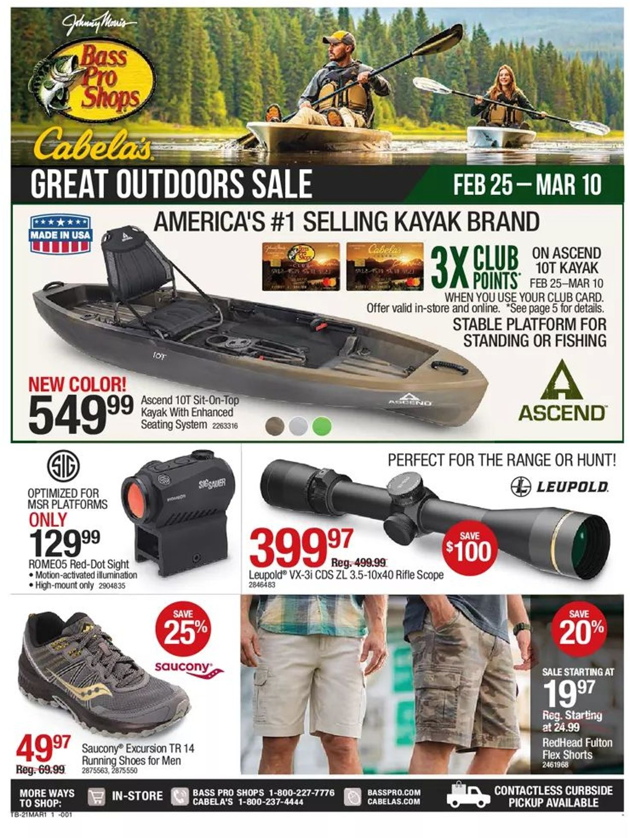 Catalogue Bass Pro Great Outdoors Sale 2021 from 02/25/2021