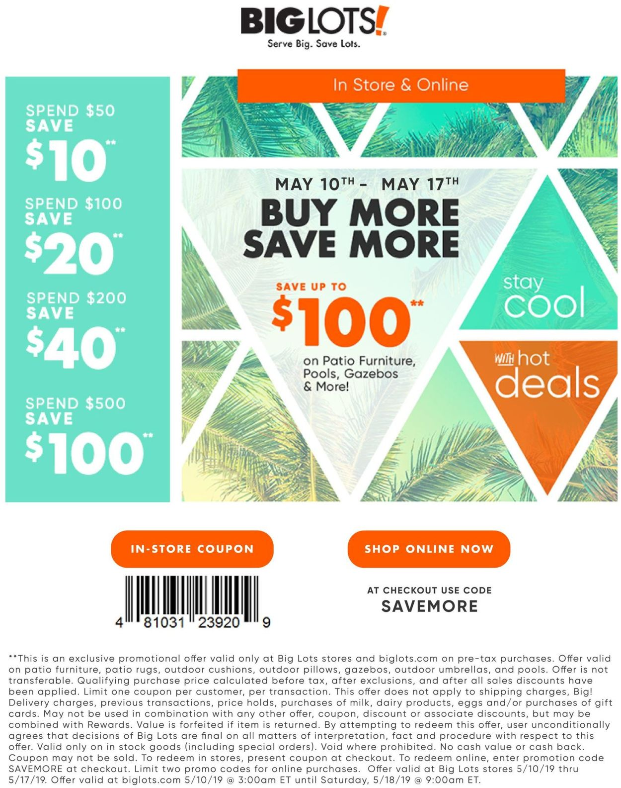 Big Lots Current Weekly Ad 05 10 05 17 2019 Frequent Ads Com