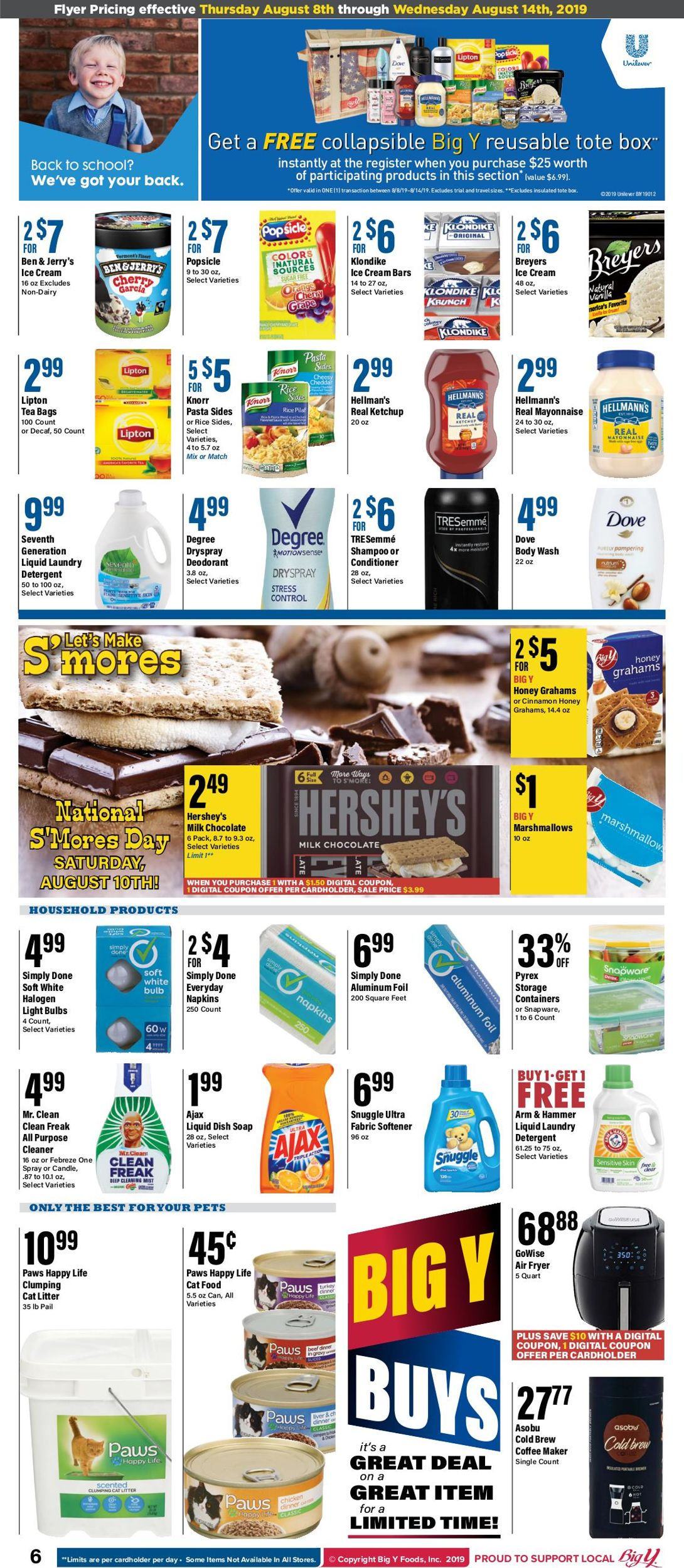 Big Y Current weekly ad 08/08 - 08/14/2019 [9] - frequent-ads.com
