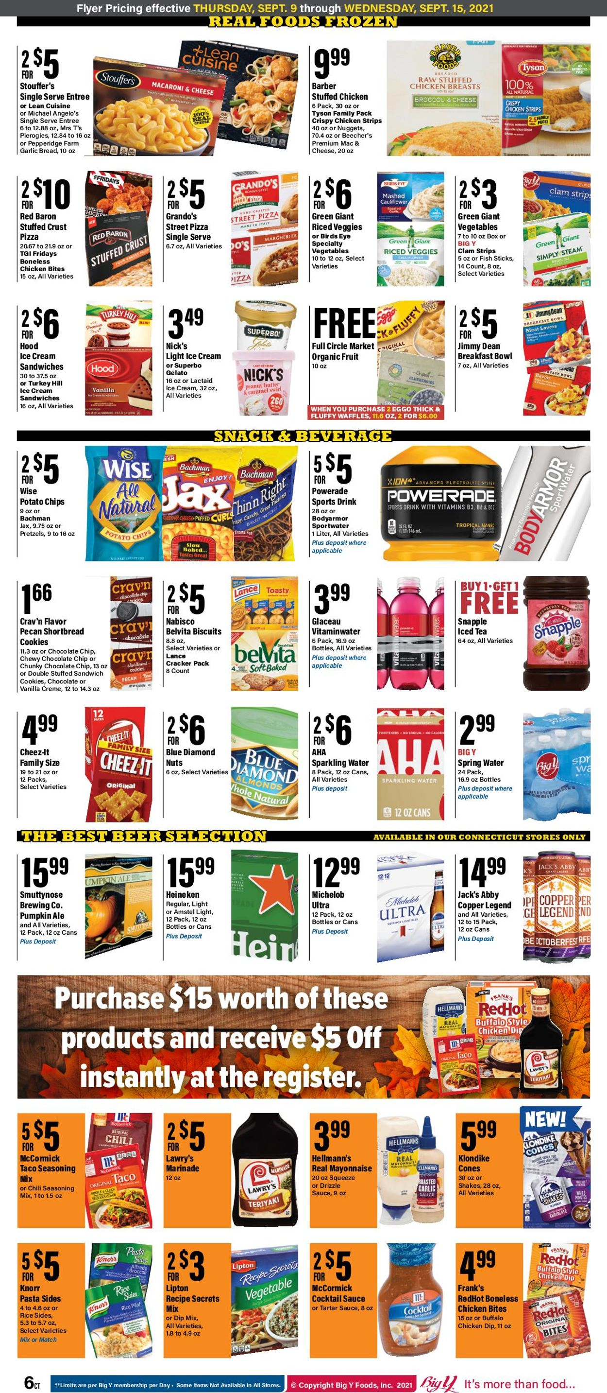 Catalogue Big Y from 09/09/2021