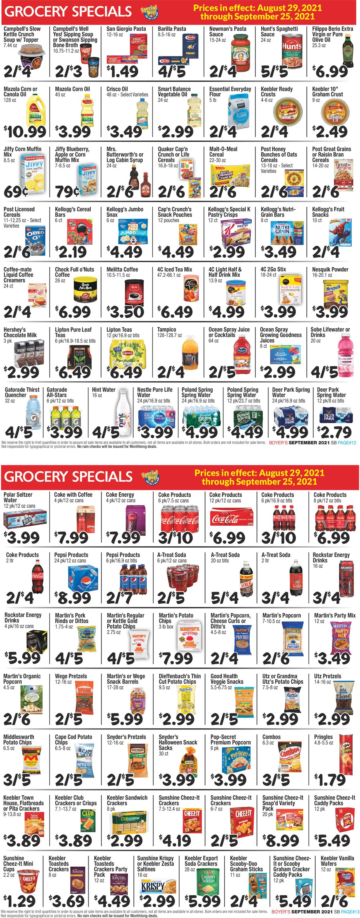 Catalogue Boyer's Food Markets from 08/29/2021