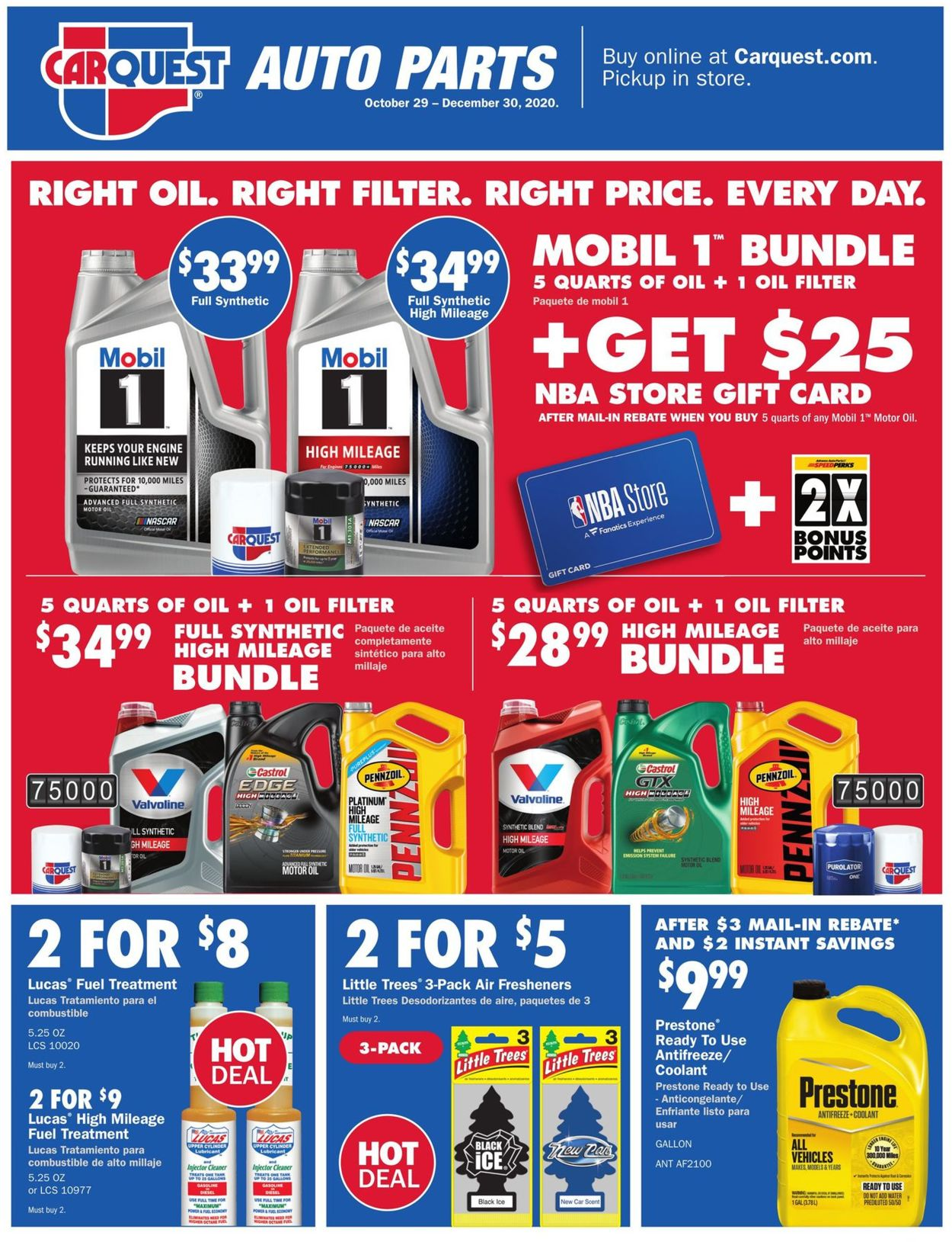 Catalogue CarQuest from 10/29/2020
