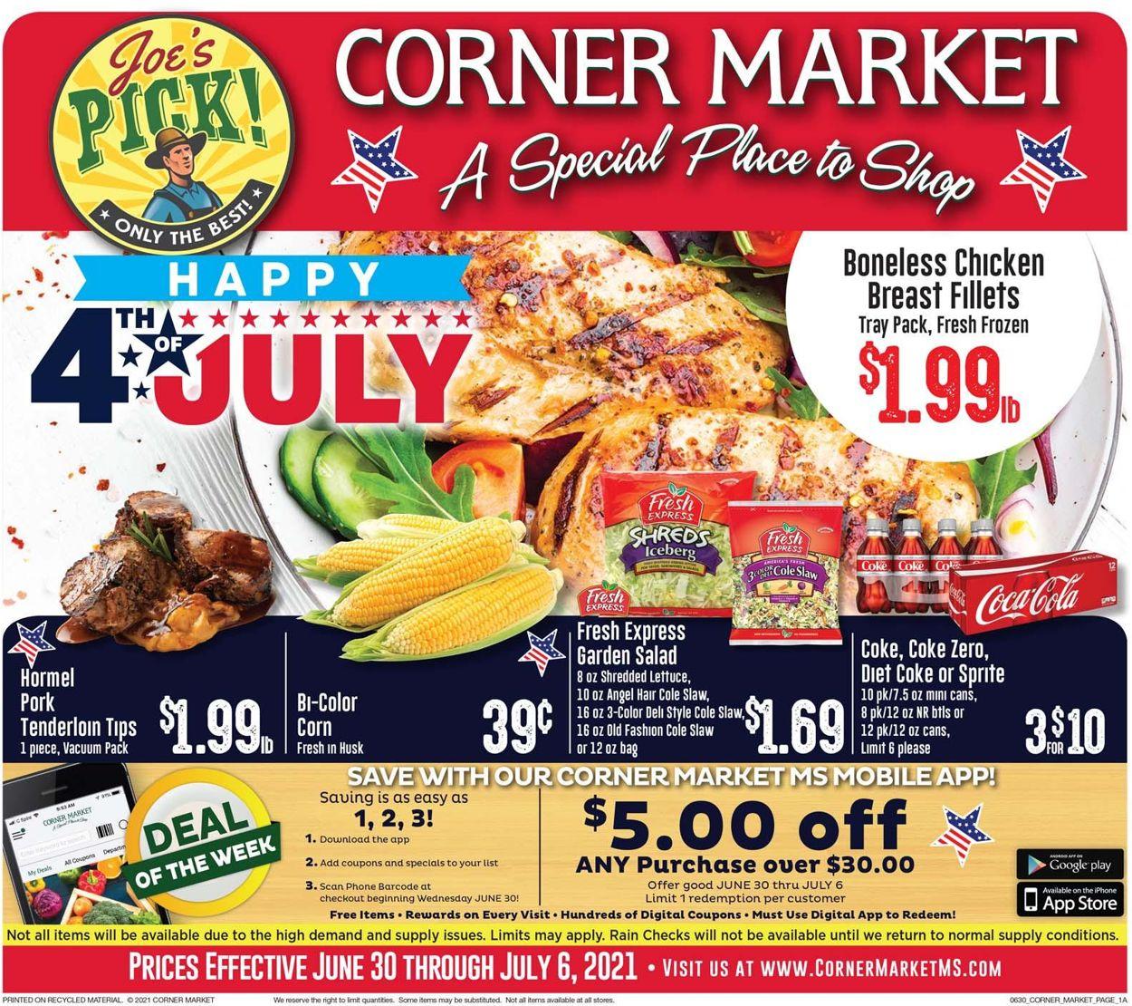 Catalogue Corner Market from 06/30/2021