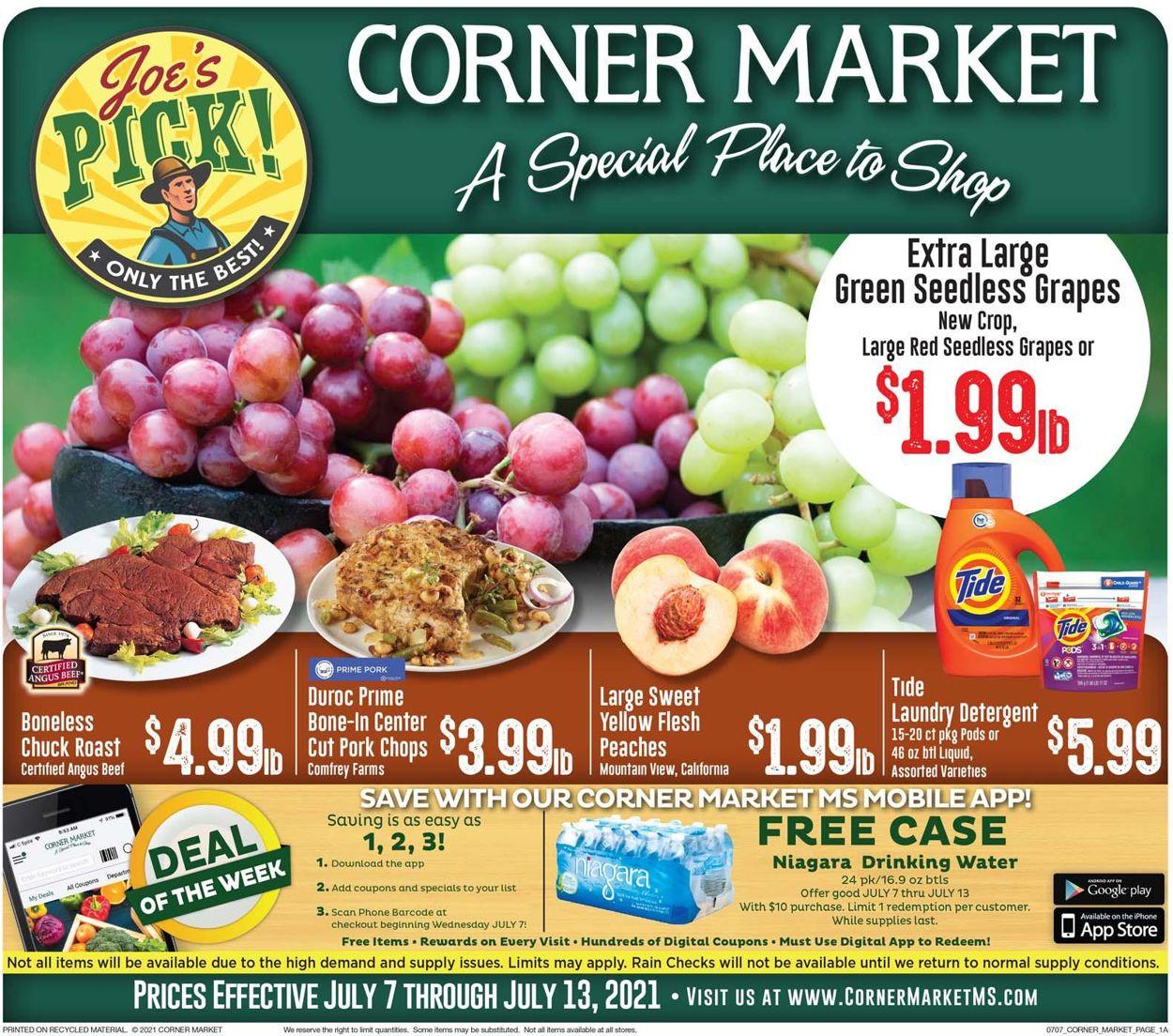 Catalogue Corner Market from 07/07/2021