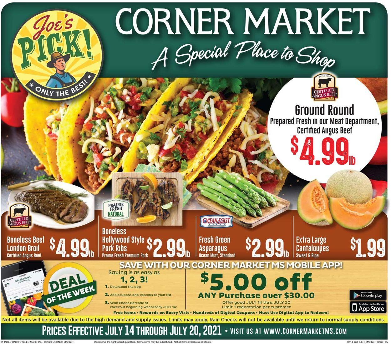 Catalogue Corner Market from 07/14/2021