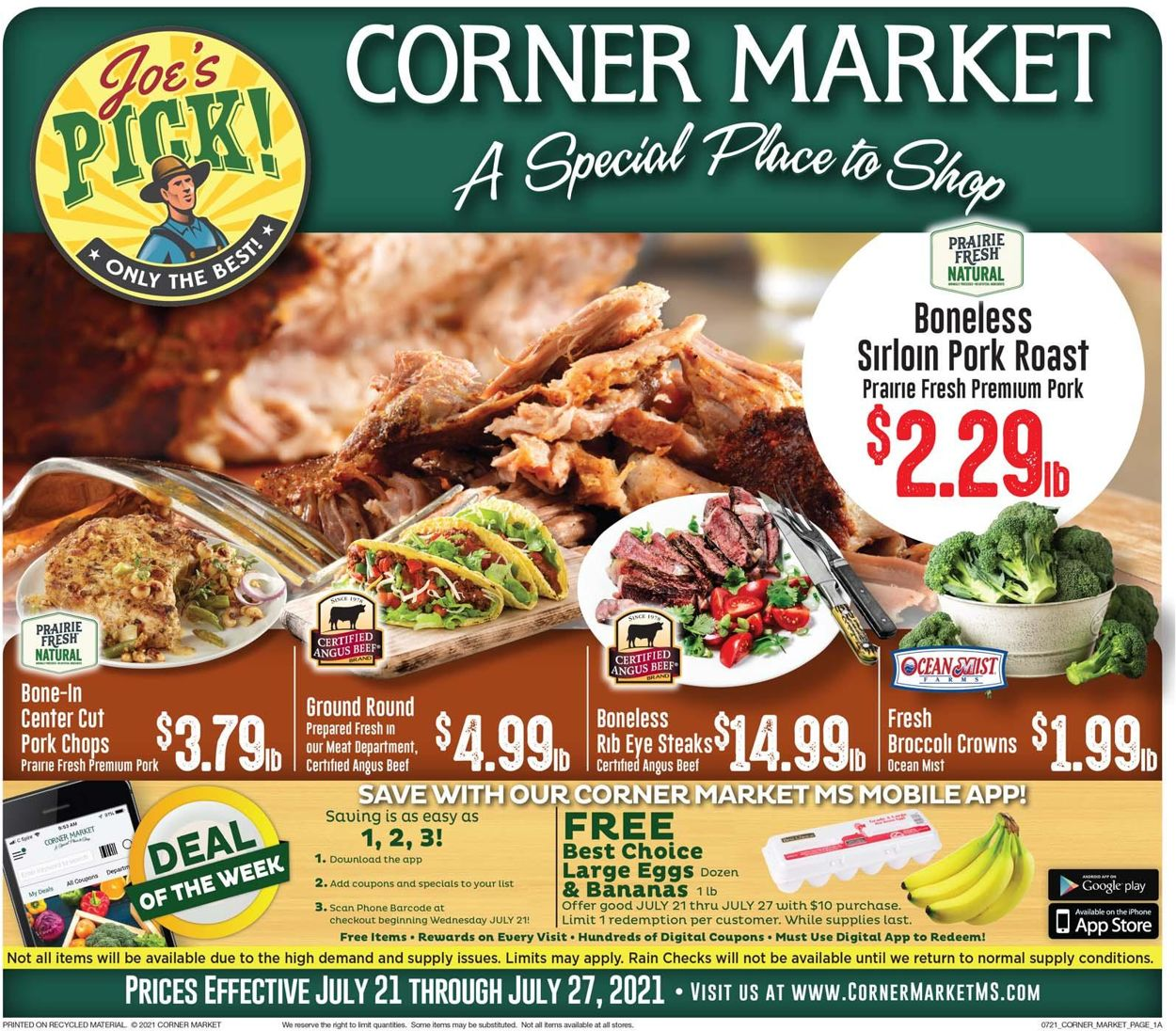 Catalogue Corner Market from 07/21/2021