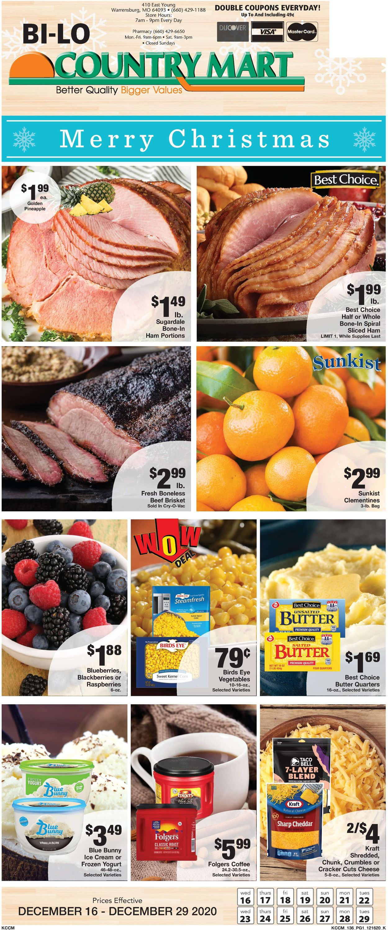 Catalogue Country Mart Christmas Ad 2020 from 12/16/2020