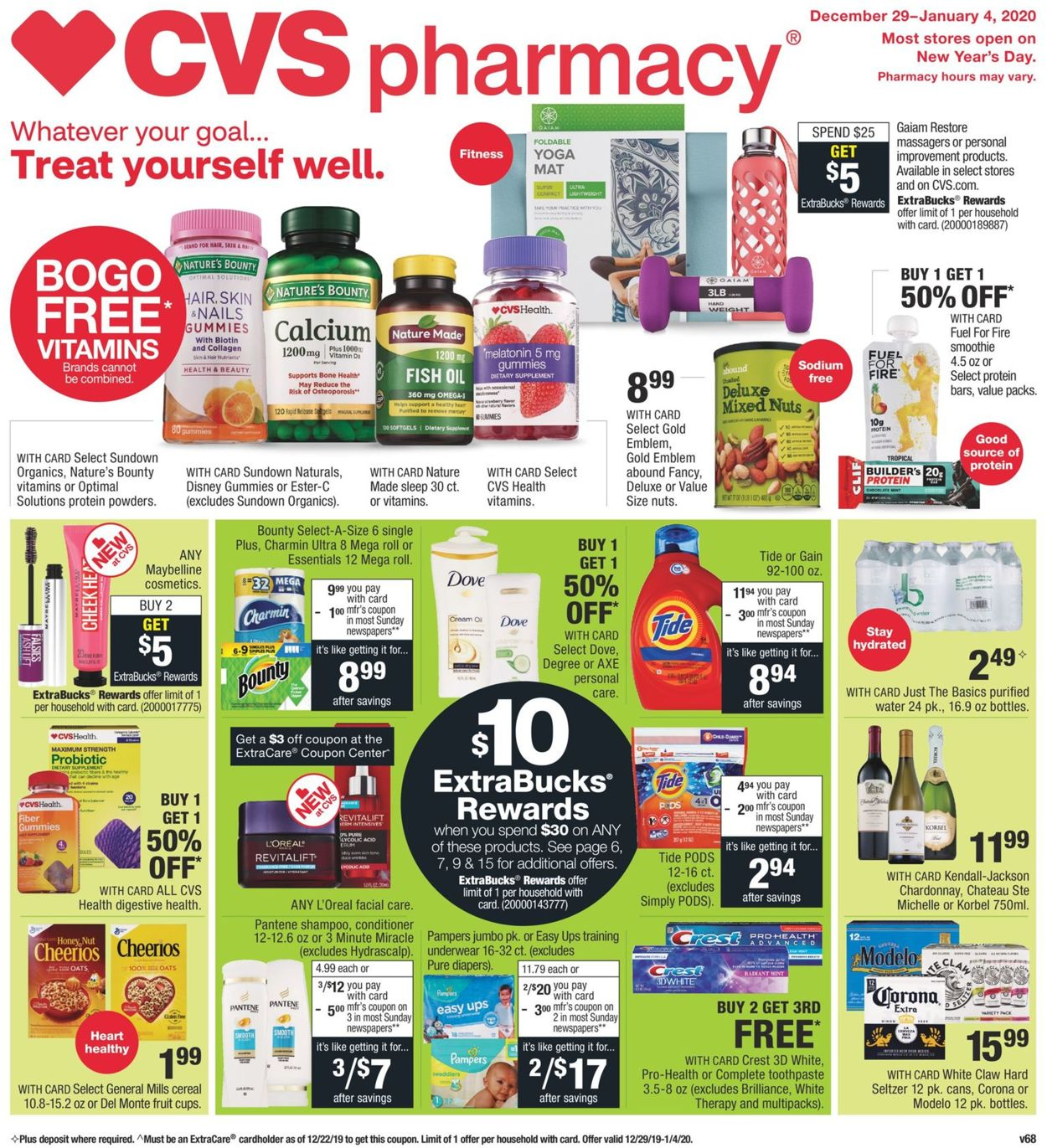Cvs Pharmacy Current Weekly Ad 12 29 01 04 2020 Frequent Ads Com