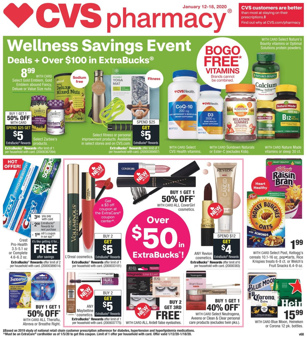 Cvs Pharmacy Current Weekly Ad 01 12 01 18 2020 Frequent Ads Com