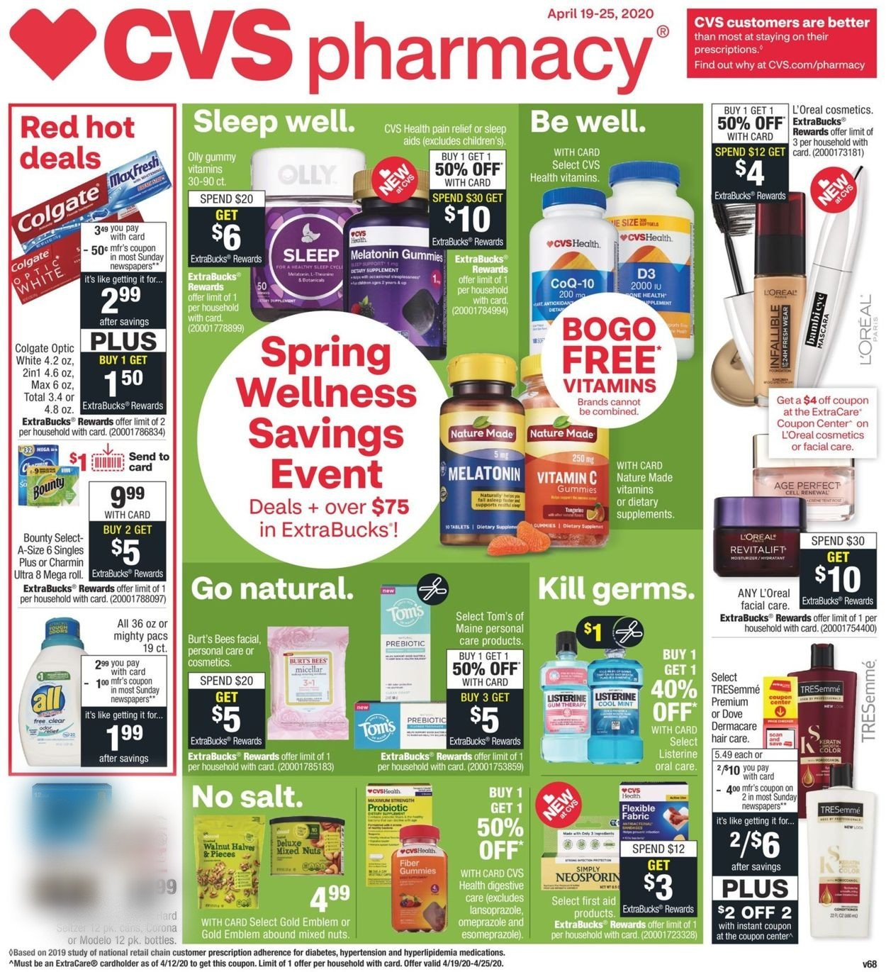 Cvs Pharmacy Current Weekly Ad 04 19 04 25 2020 Frequent Ads Com