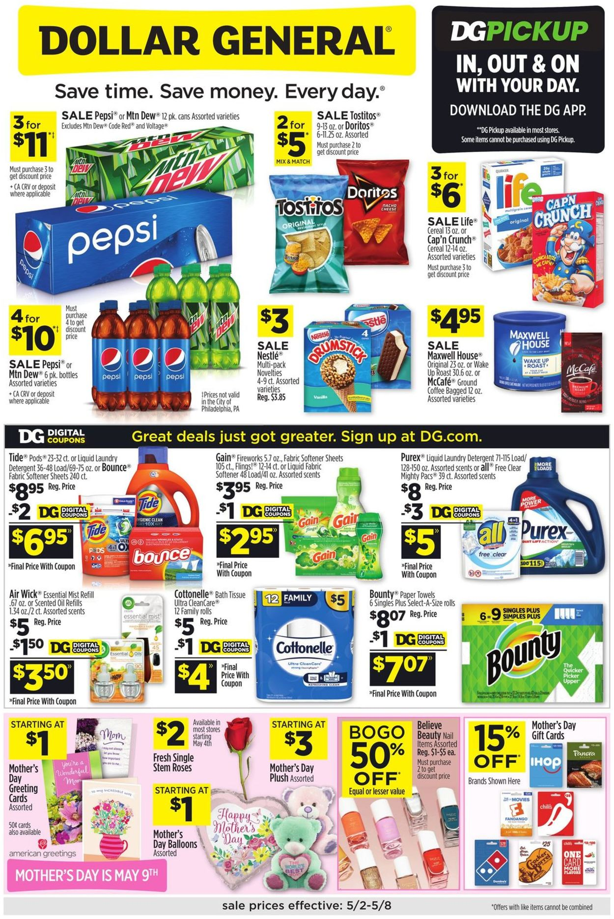 Catalogue Dollar General from 05/02/2021