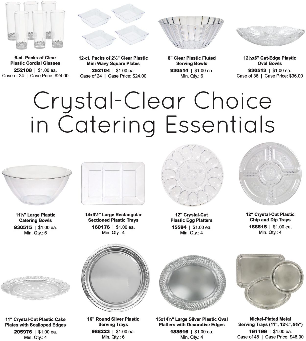 2 6-ct. Packs Clear Plastic Cordial Glasses,