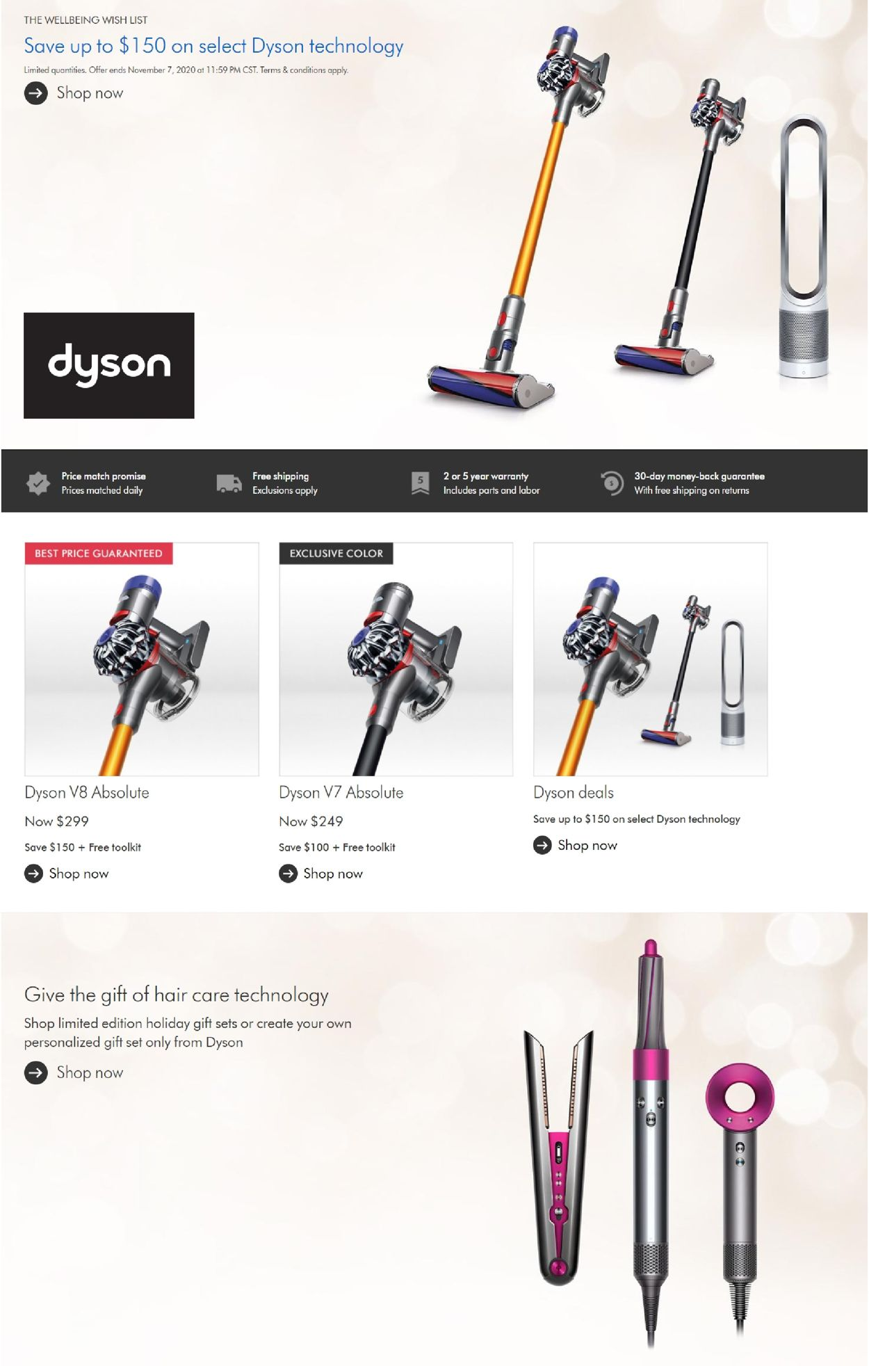 Dyson Black Friday 2020 Current weekly ad 11/05 - 11/12/2020 -  frequent-ads.com