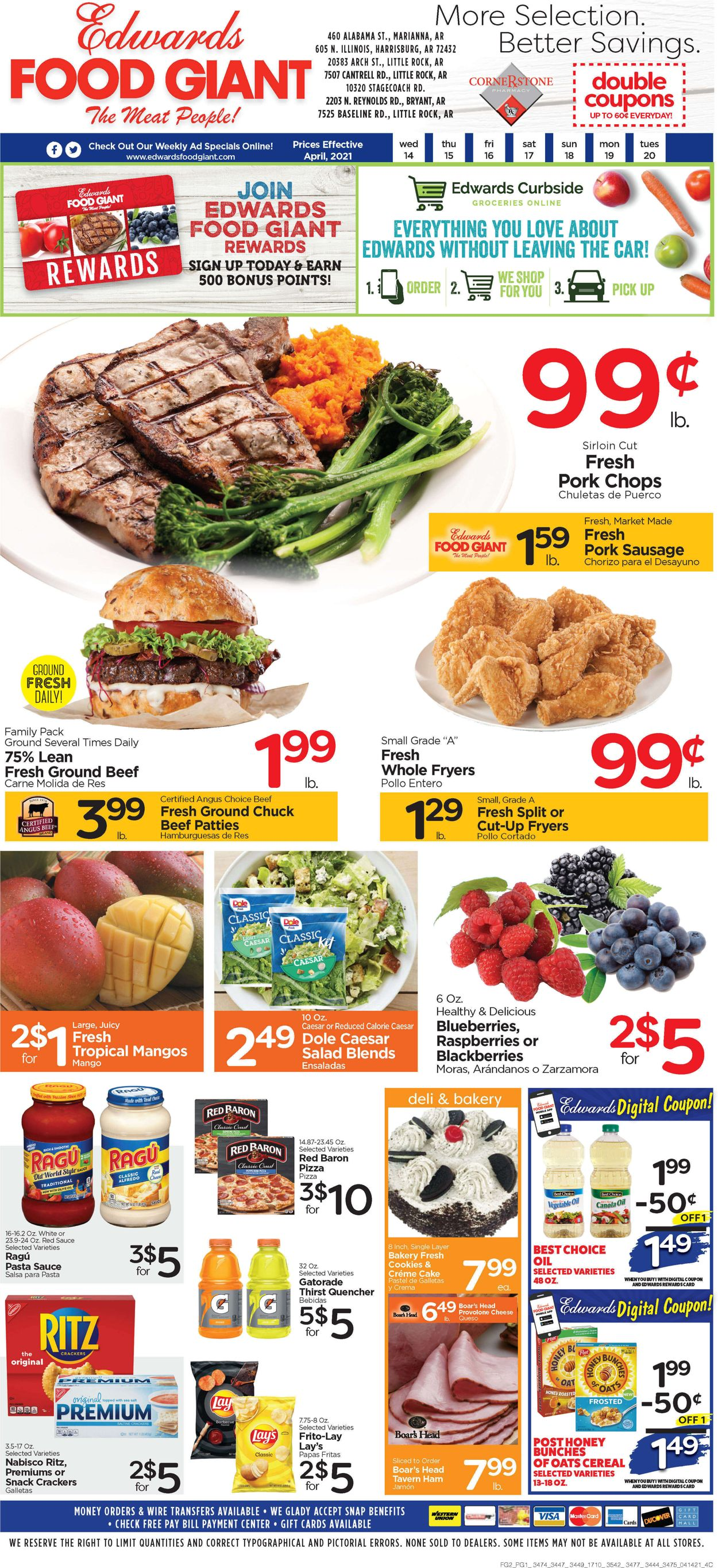 Catalogue Edwards Food Giant from 04/14/2021