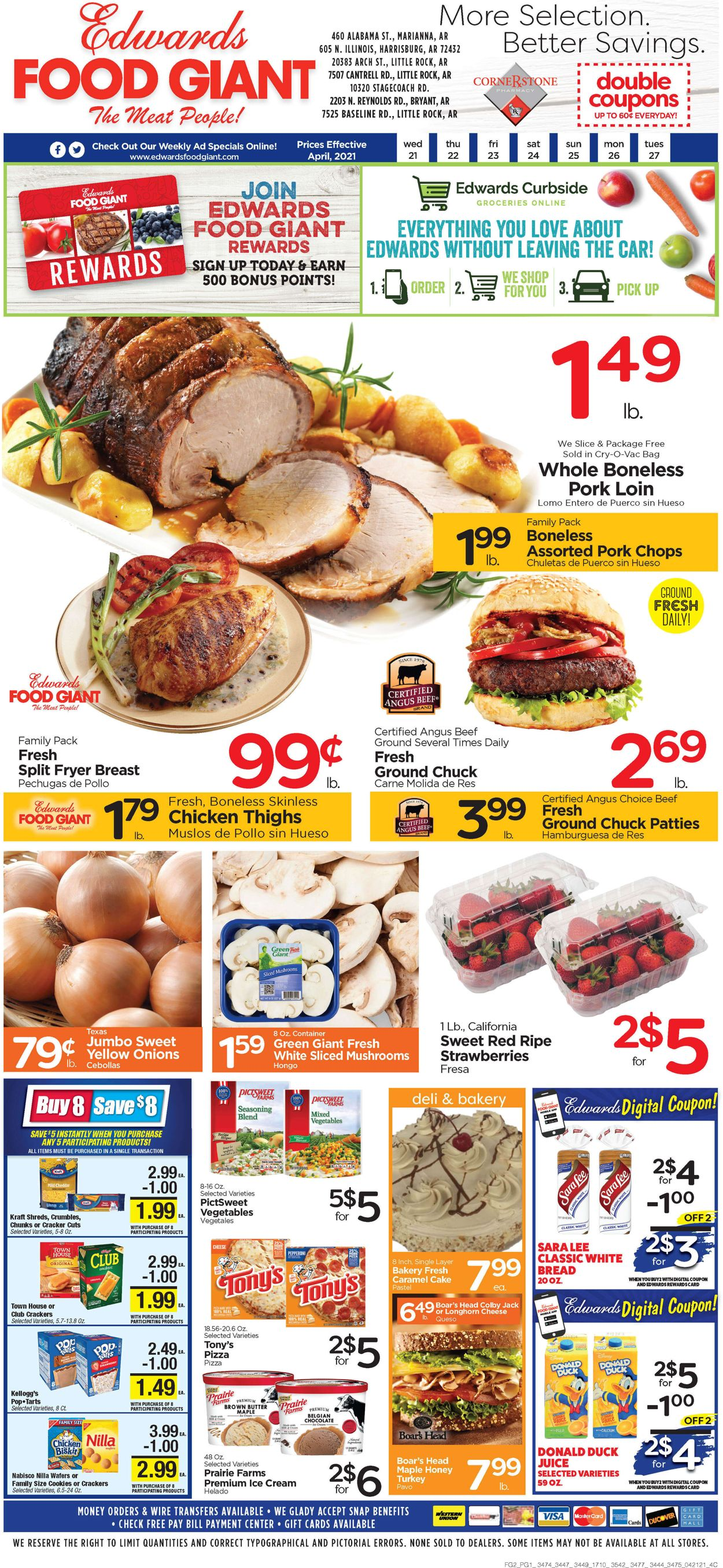Catalogue Edwards Food Giant from 04/21/2021