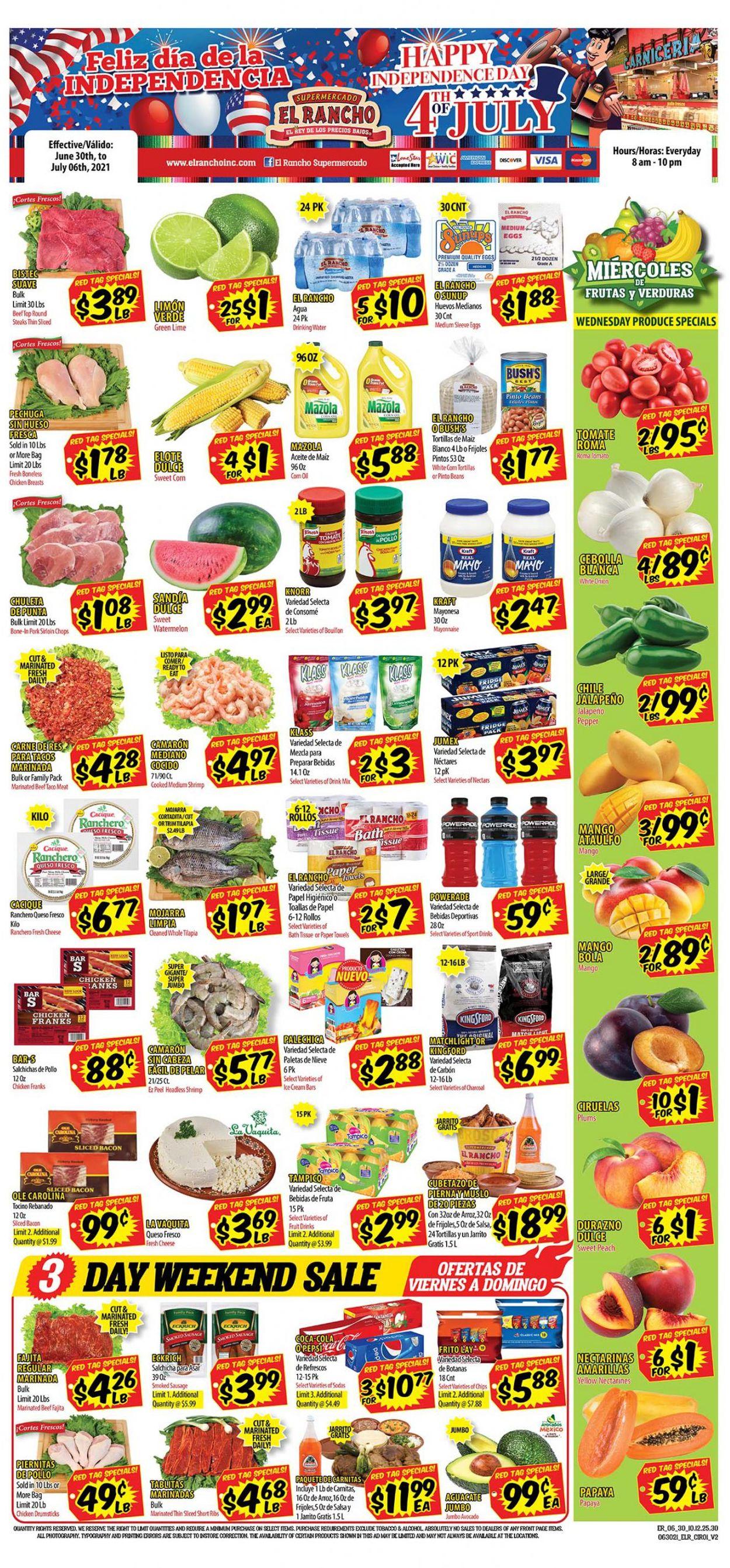 Catalogue El Rancho from 06/30/2021