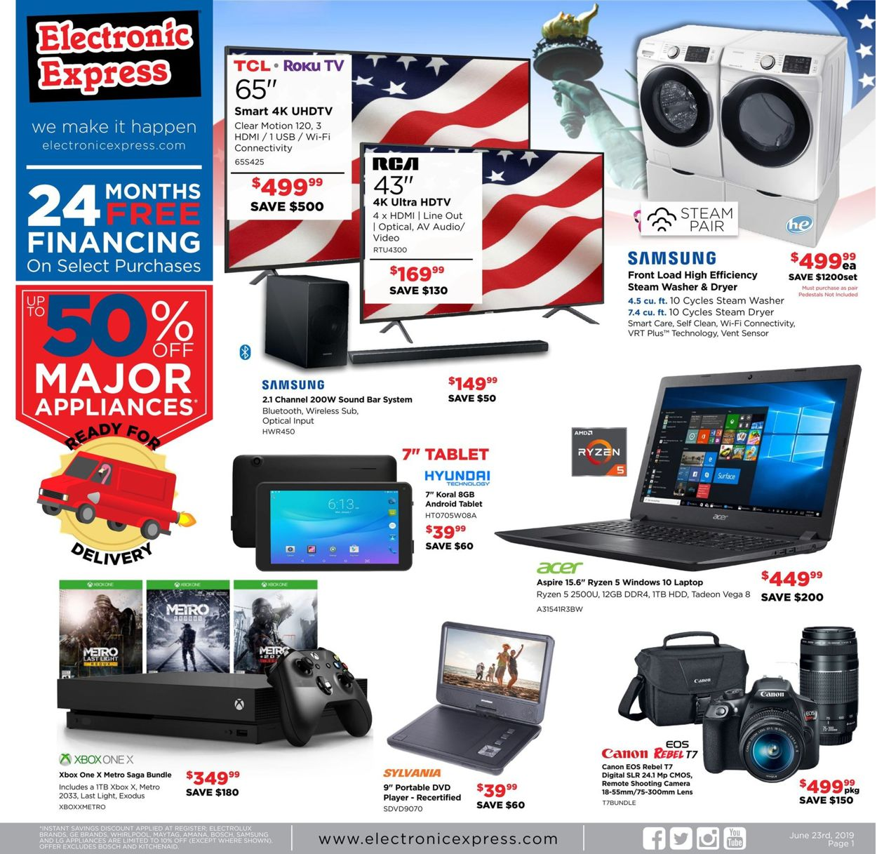 Electronic Express Current weekly ad 06\/23 - 06\/29\/2019 - frequent-ads.com