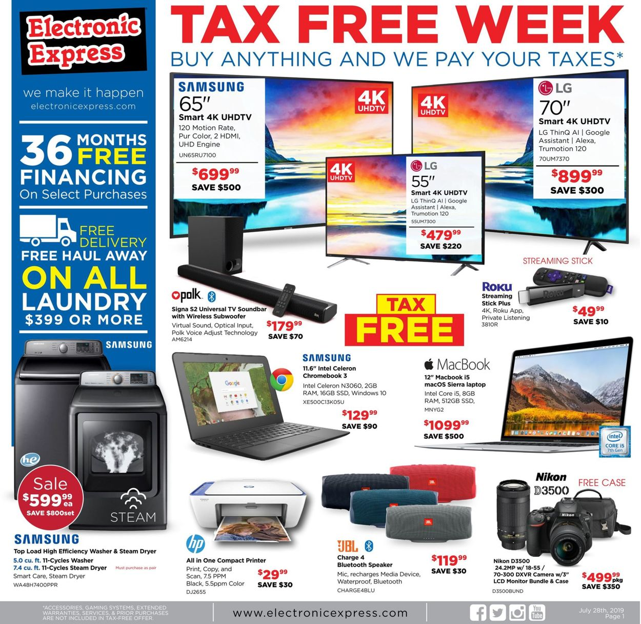 Electronic Express Current weekly ad 07\/28 - 08\/03\/2019 - frequent-ads.com