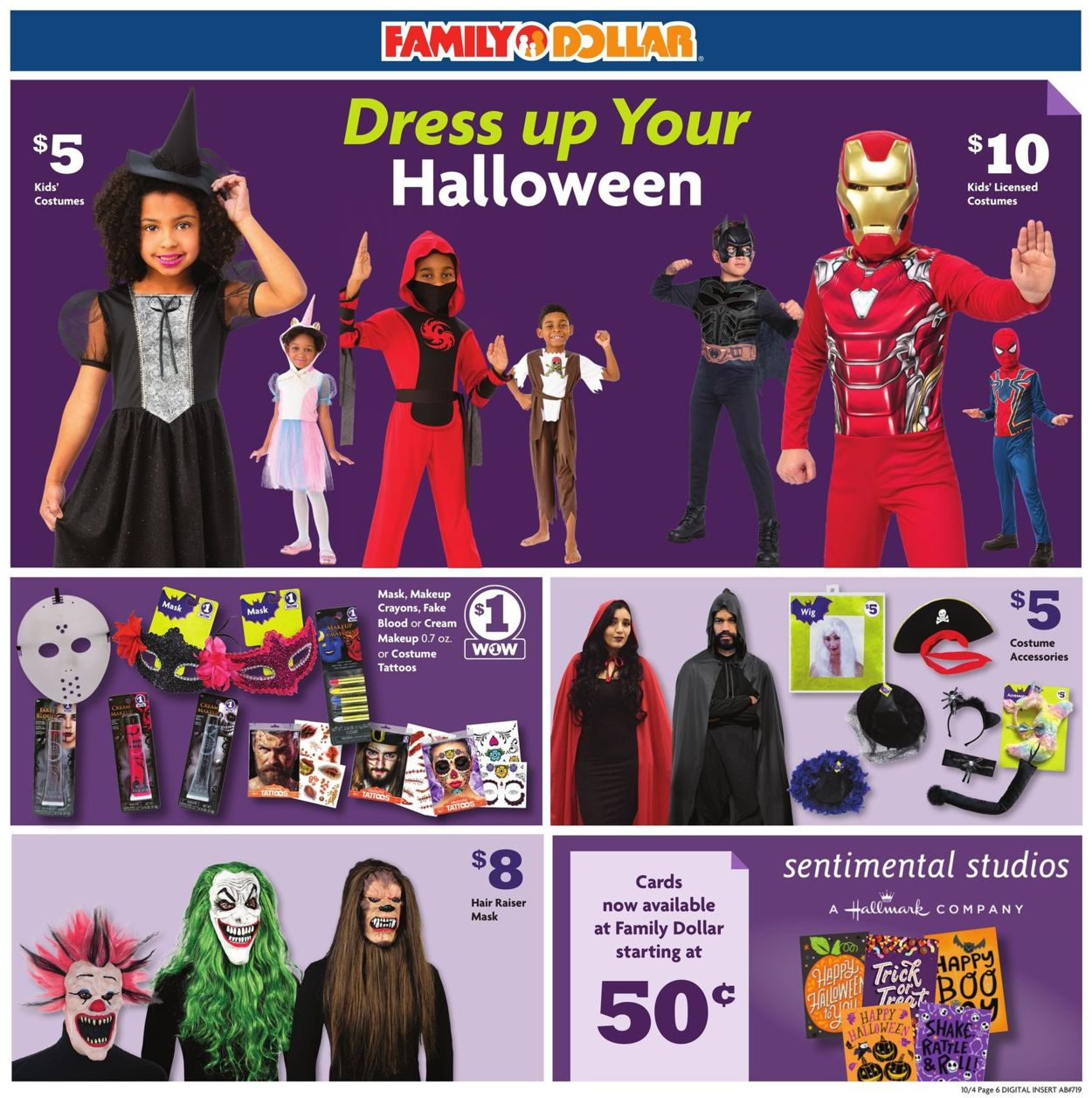 Current 2020 There Halloween Card Family Dollar Current weekly ad 10/04   10/10/2020 [3]   frequent