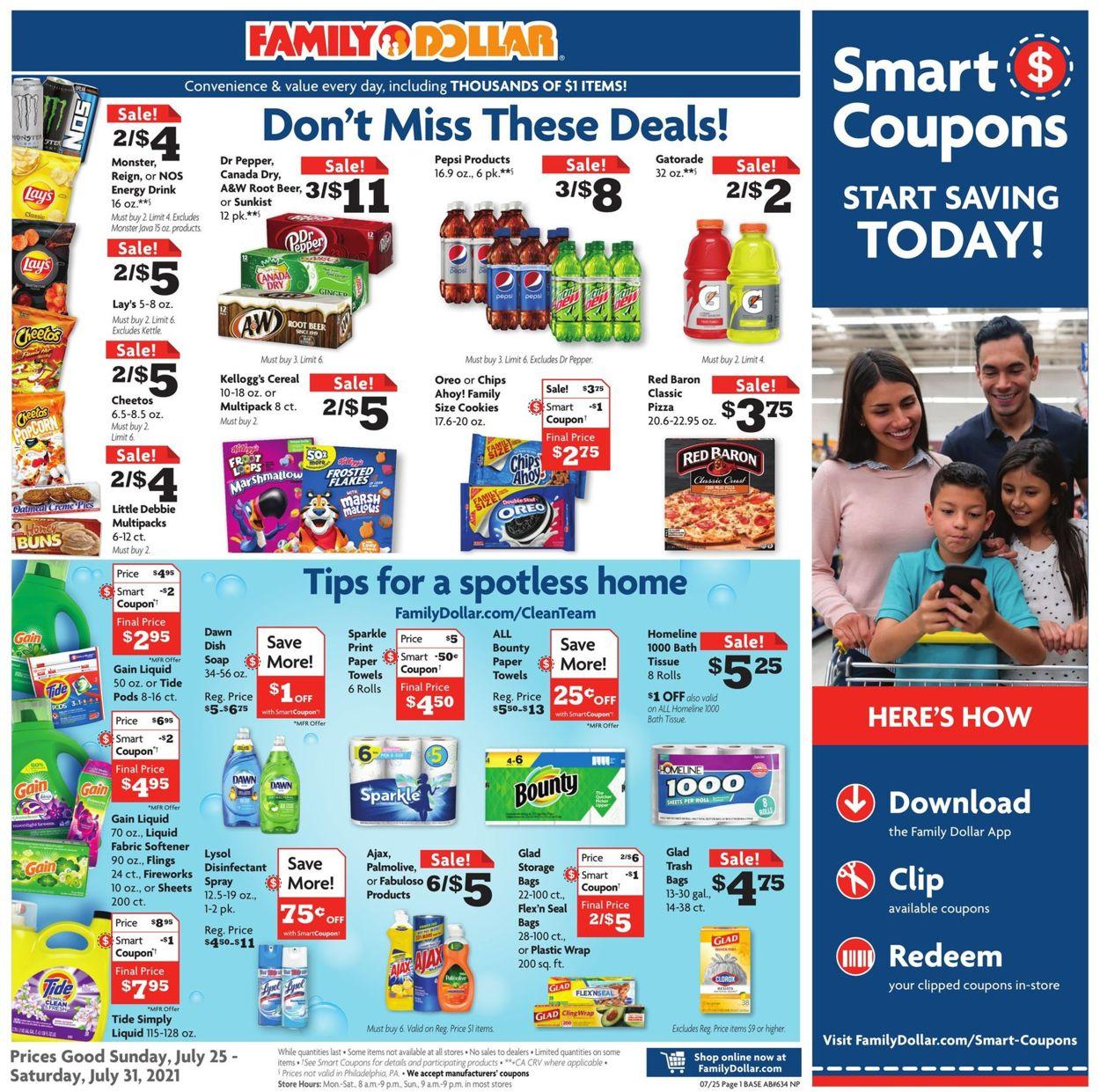 Catalogue Family Dollar from 07/25/2021