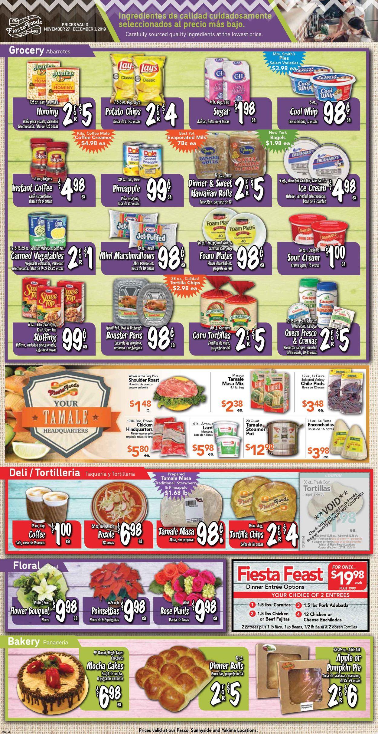 Catalogue Fiesta Foods SuperMarkets from 11/27/2019