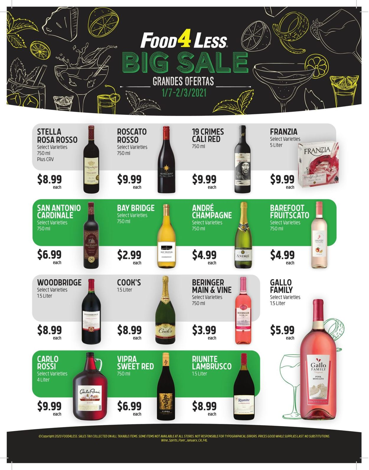 Catalogue Food 4 Less Big Sale 2021 from 01/07/2021