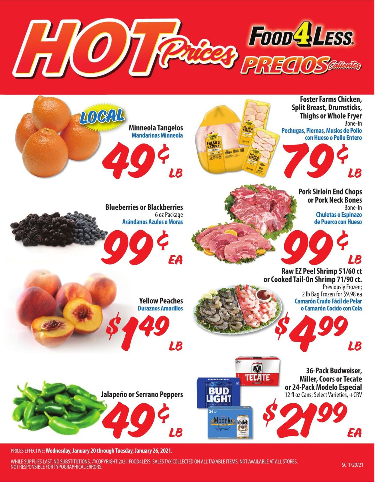 Catalogue Food 4 Less from 01/20/2021