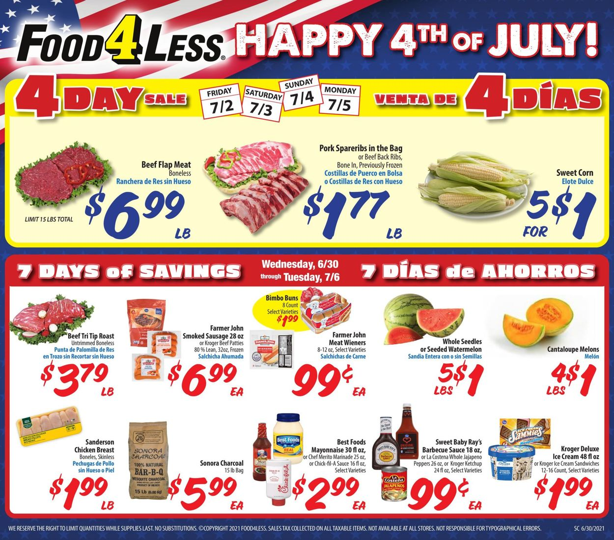 Catalogue Food 4 Less from 06/30/2021