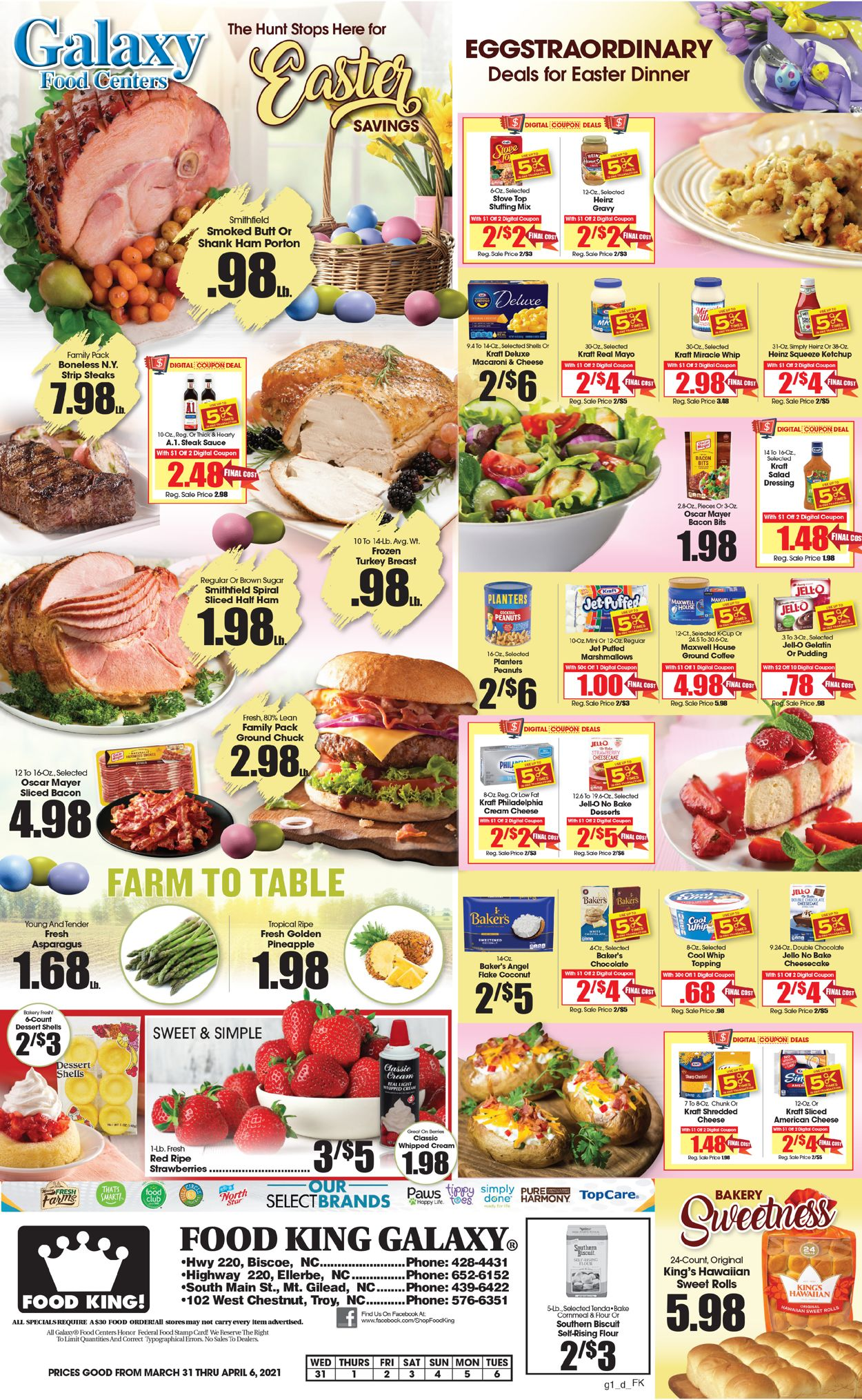 Catalogue Food King Easter 2021 from 03/31/2021