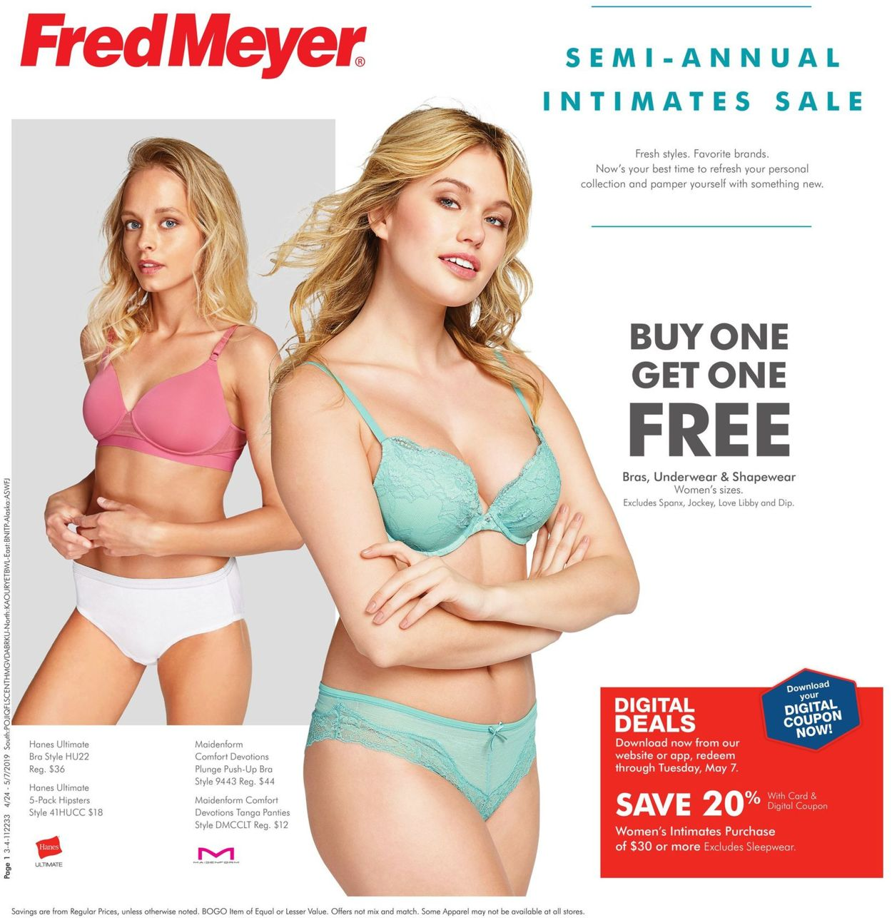 Fred Meyer Current weekly ad 04/24 - 05/07/2019 - frequent